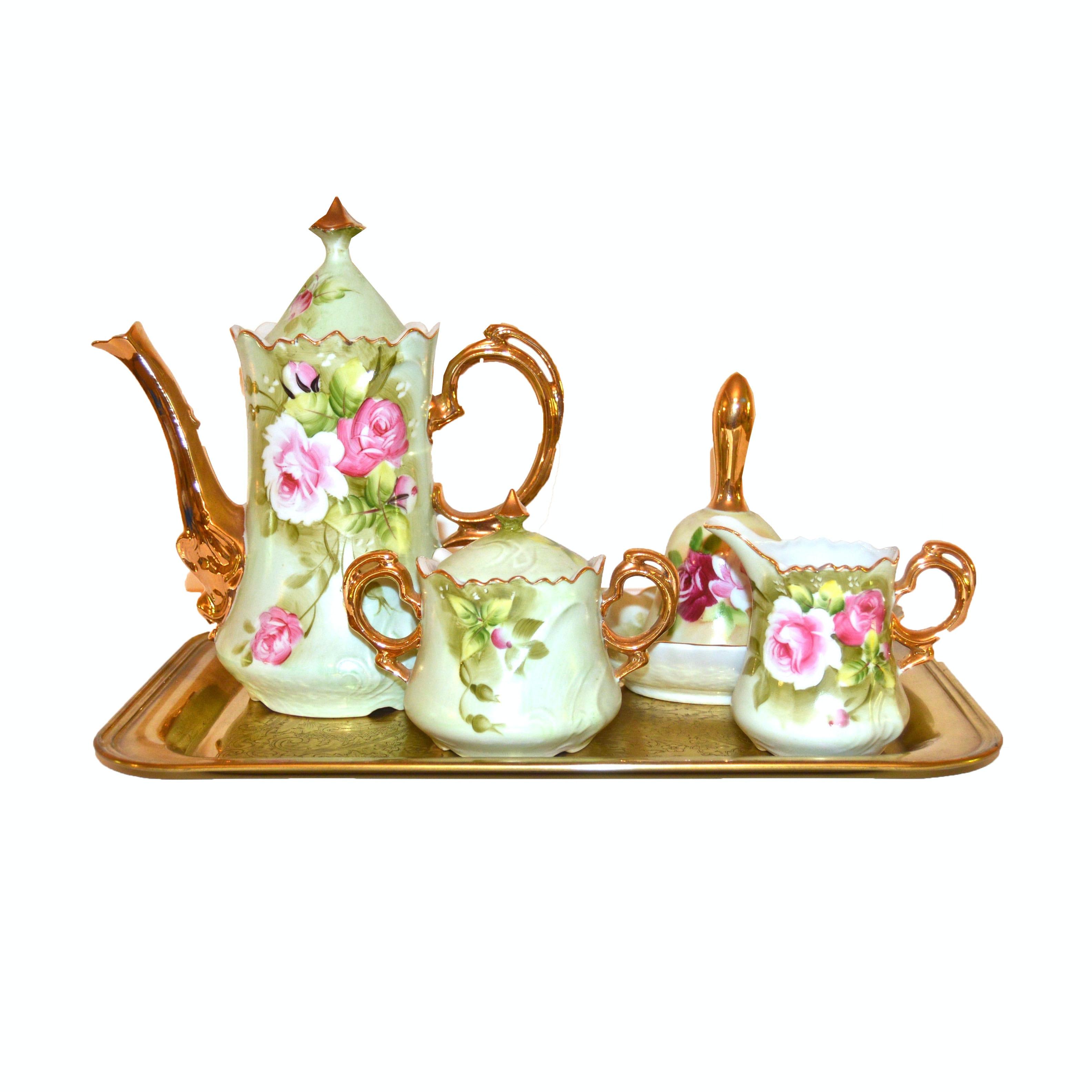 Vintage Lefton Ceramic Coffee Service Set