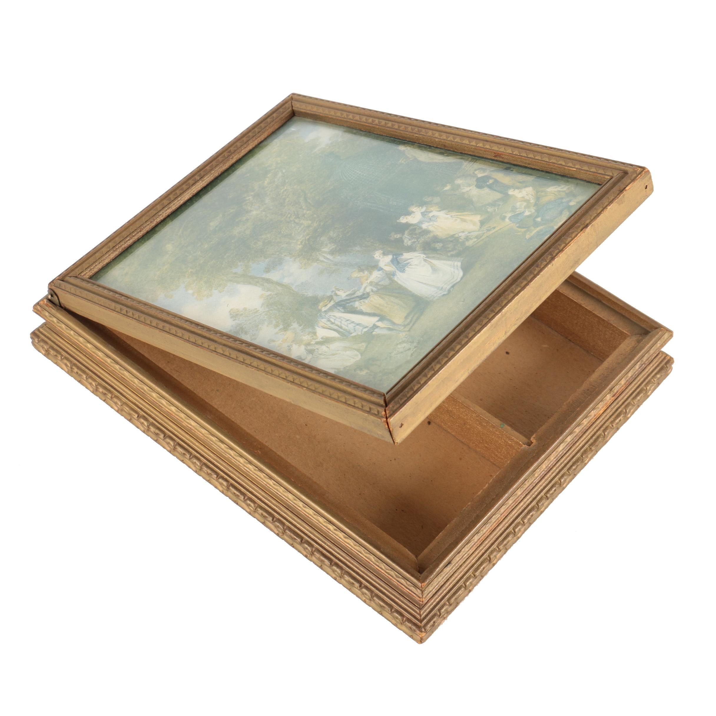 Reproduction Print on Jewelry Box with Mirror
