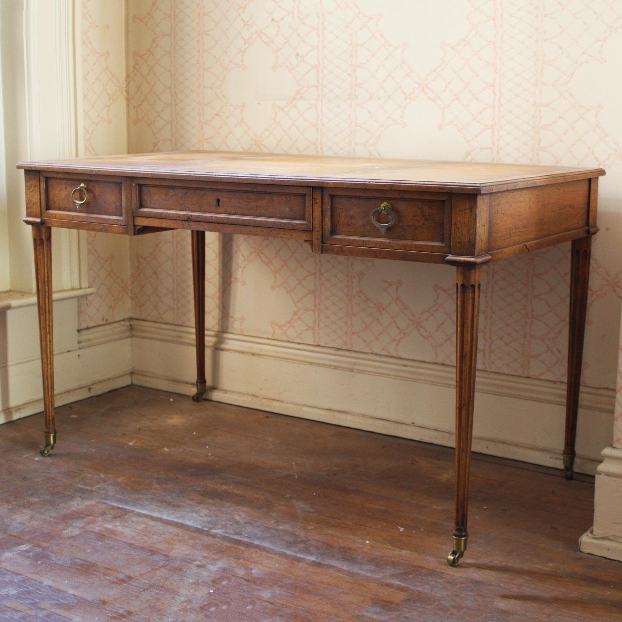 """Vintage """"Milling Road"""" Wooden Desk by Baker Furniture"""