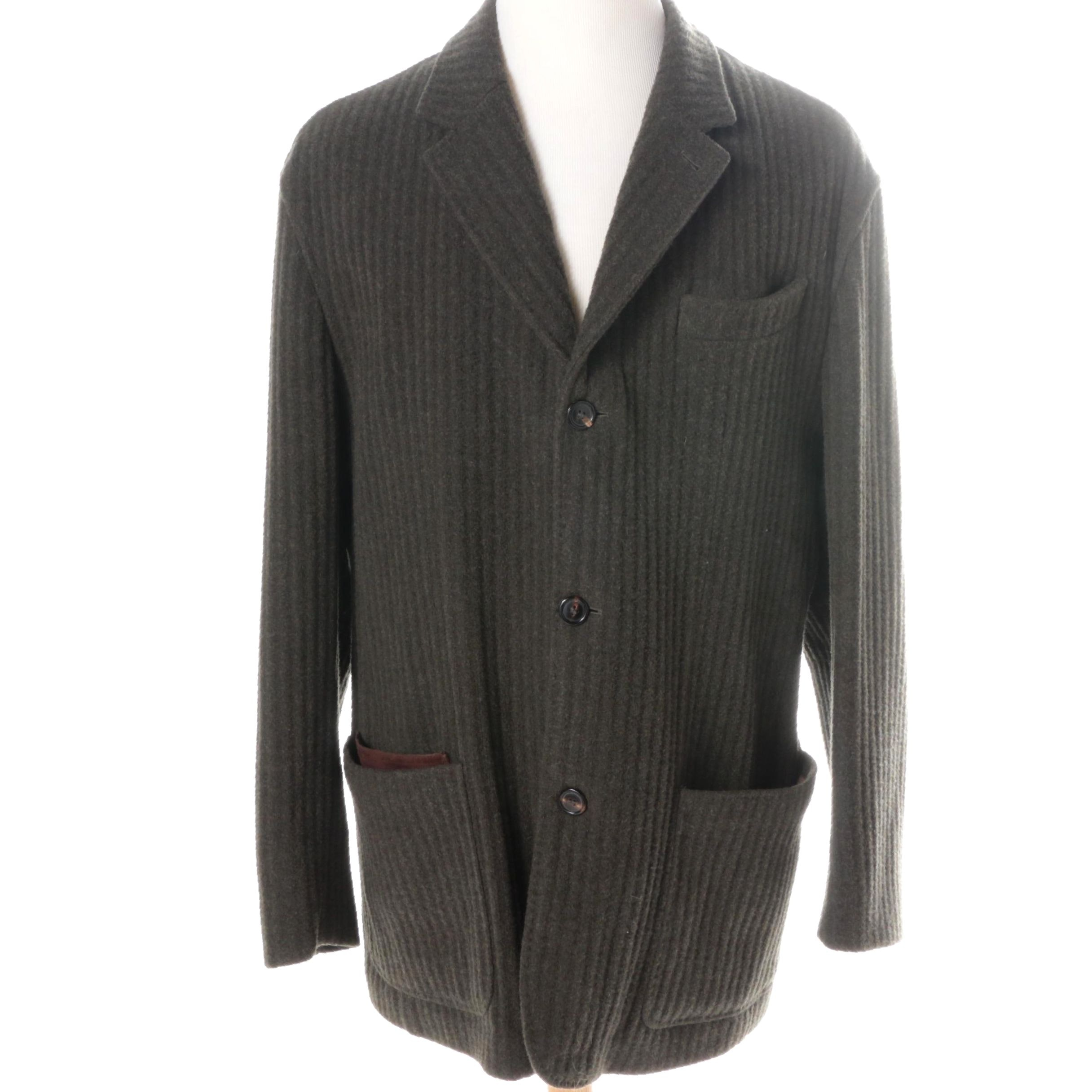 Men's Luciano Barbera Wool and Cashmere Lounge Jacket