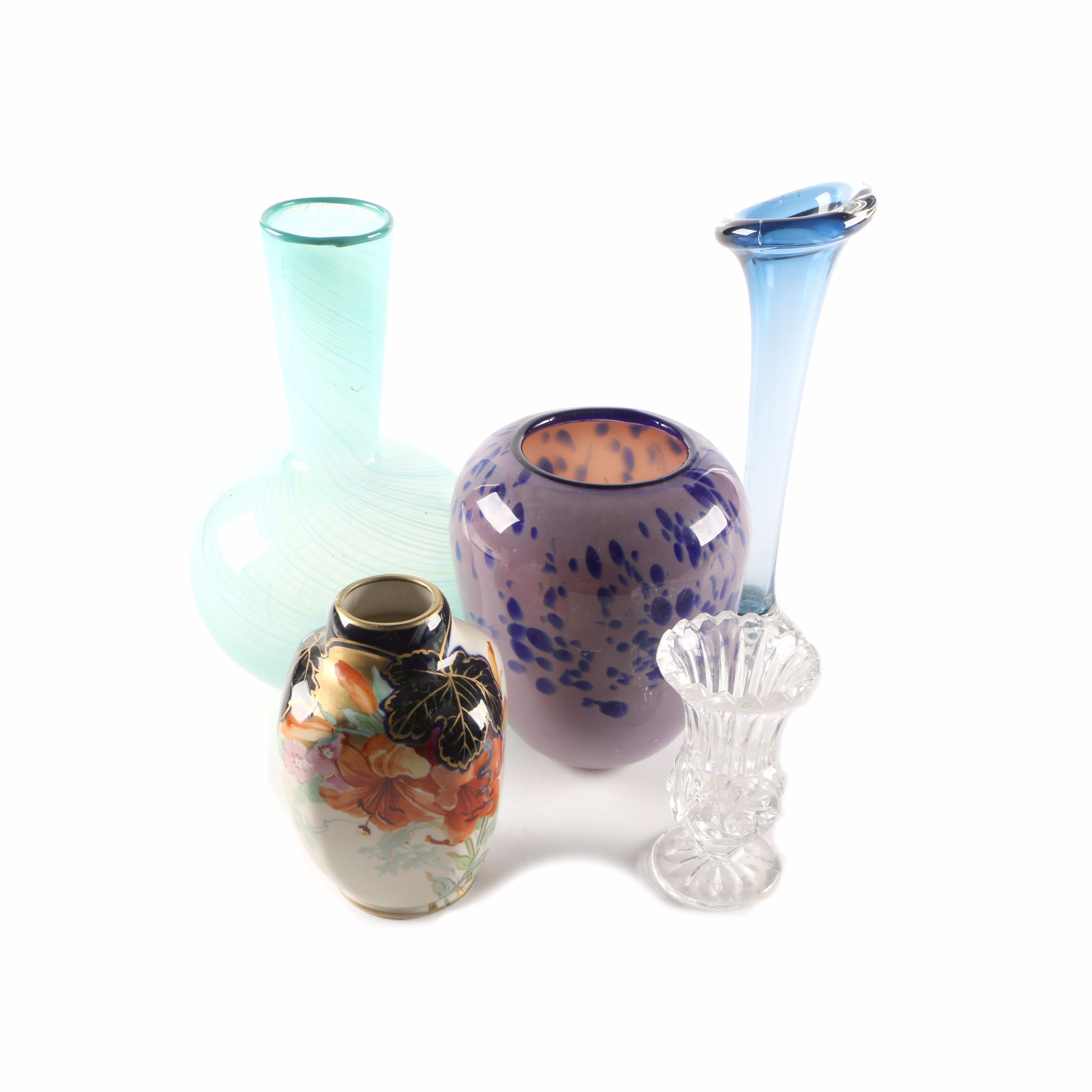 Collection of Glass and Ceramic Vases