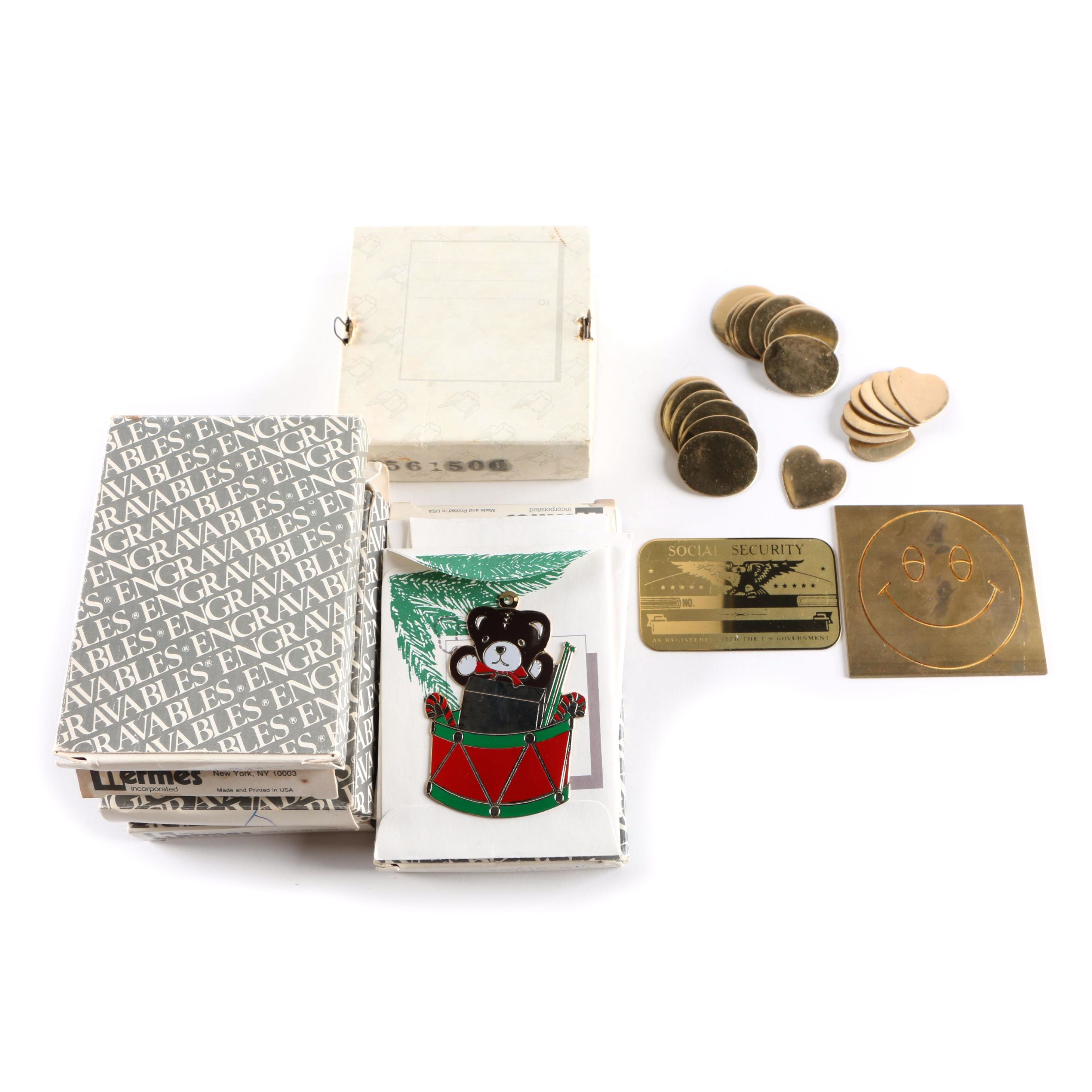 Christmas Ornaments and Metal Engraving Stamps