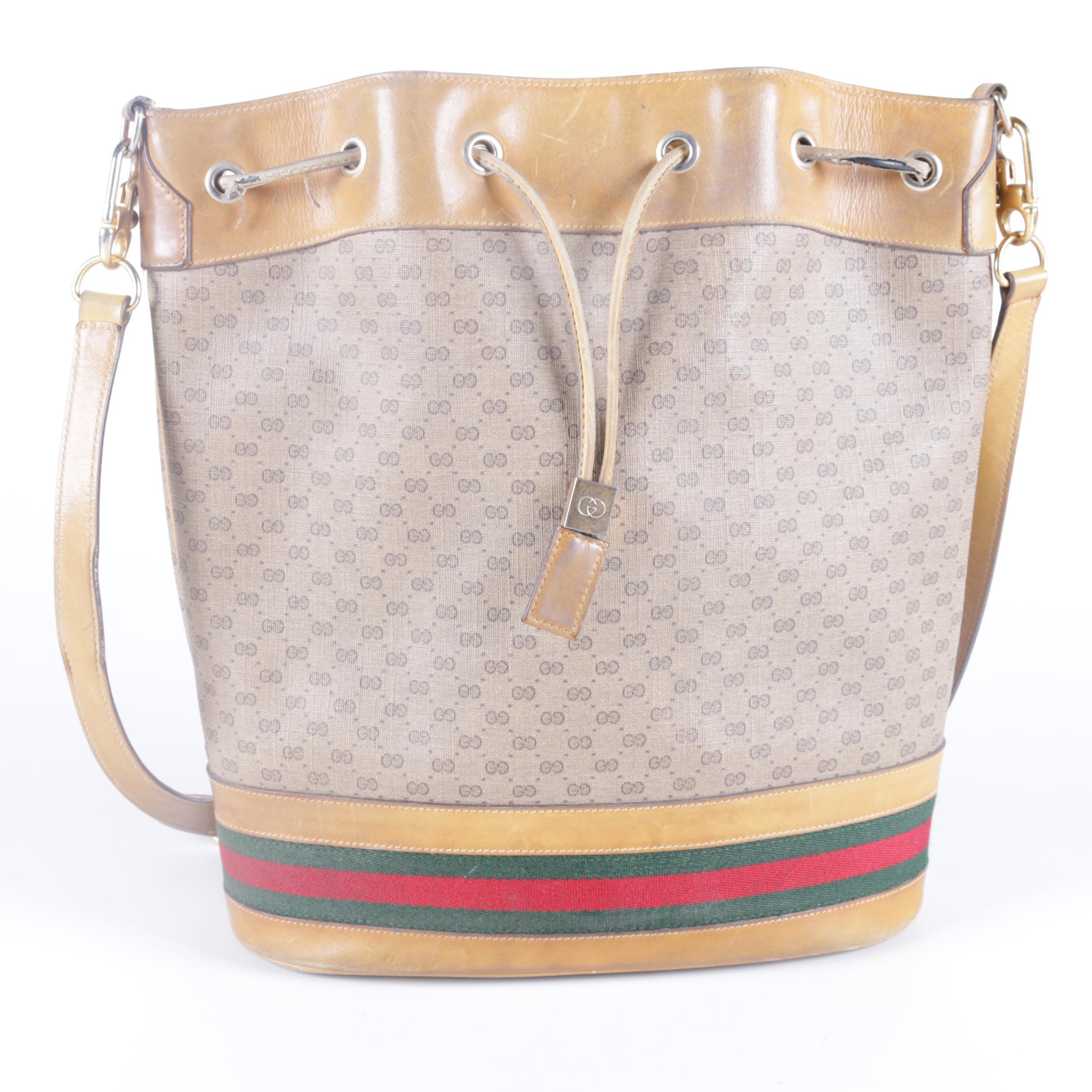 Vintage Gucci Monogram Bucket Bag