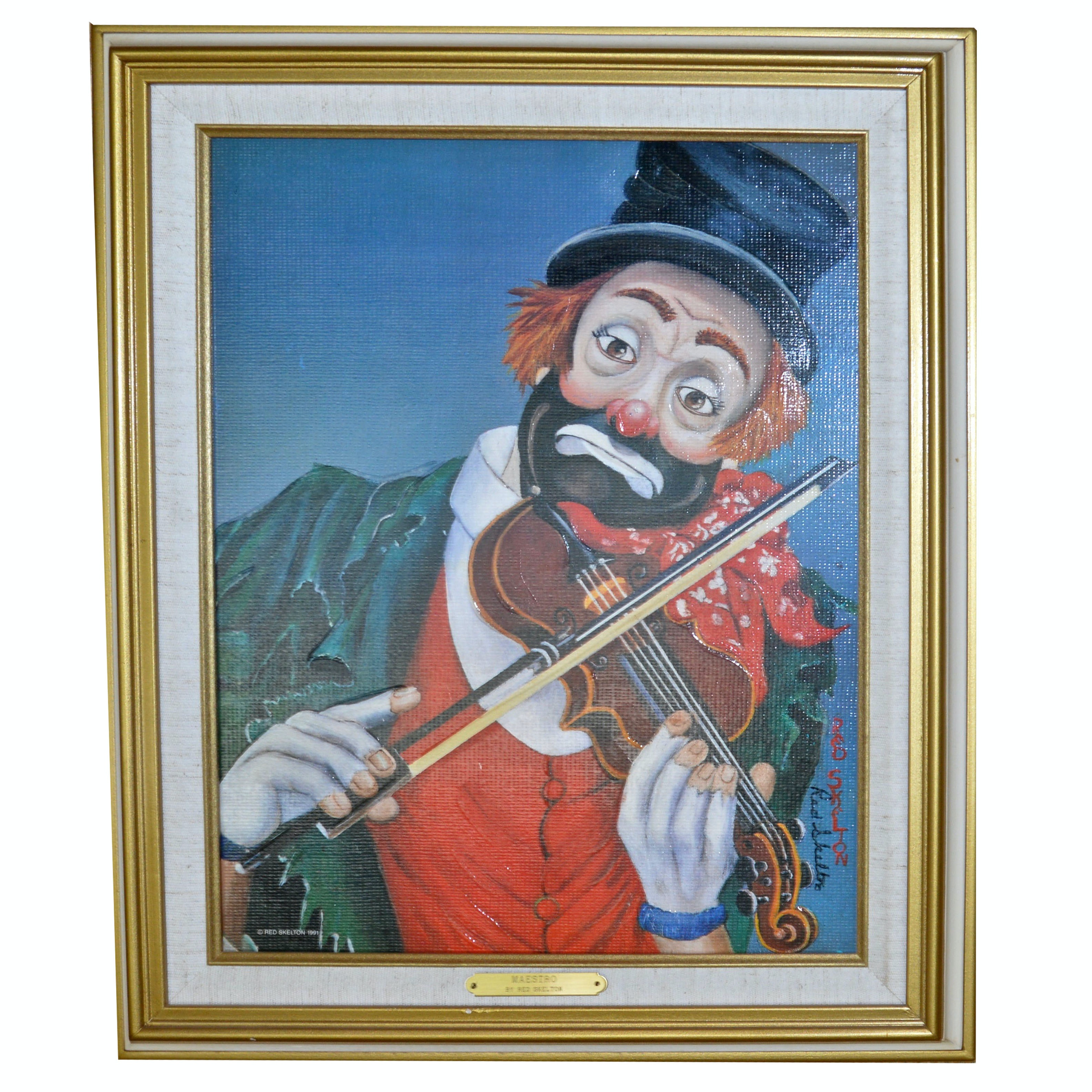 """Signed Red Skelton """"Maestro"""" Offset Lithograph"""