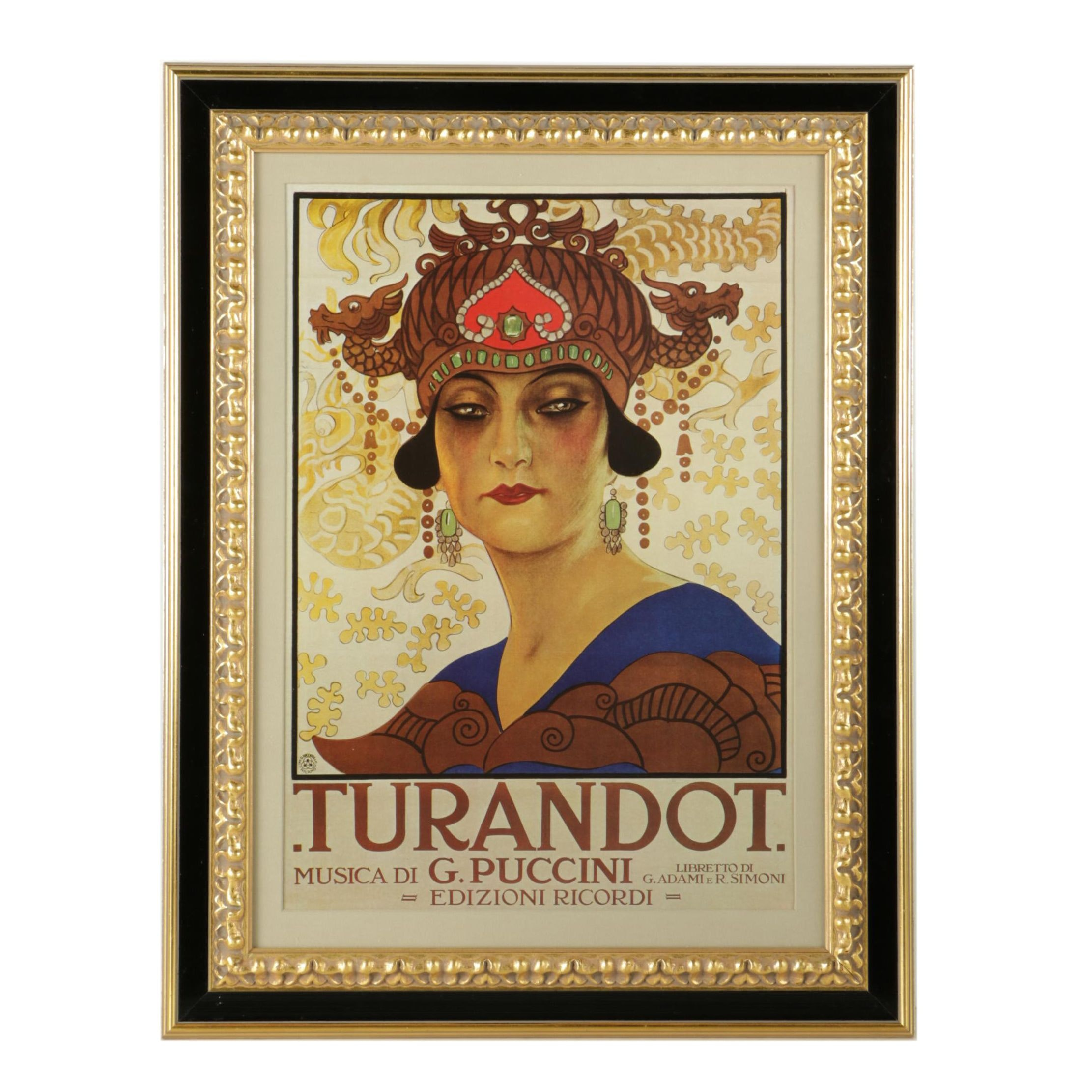 "Offset Lithograph ""Turandot"" after Leopoldo Metlicovitz"