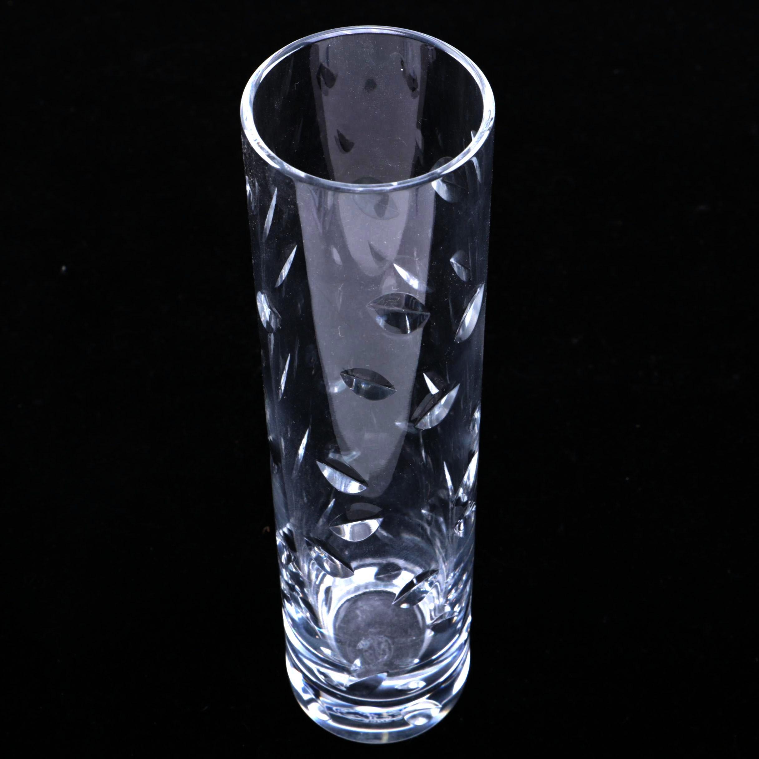 Baccarat Crystal Cut Bud Vase