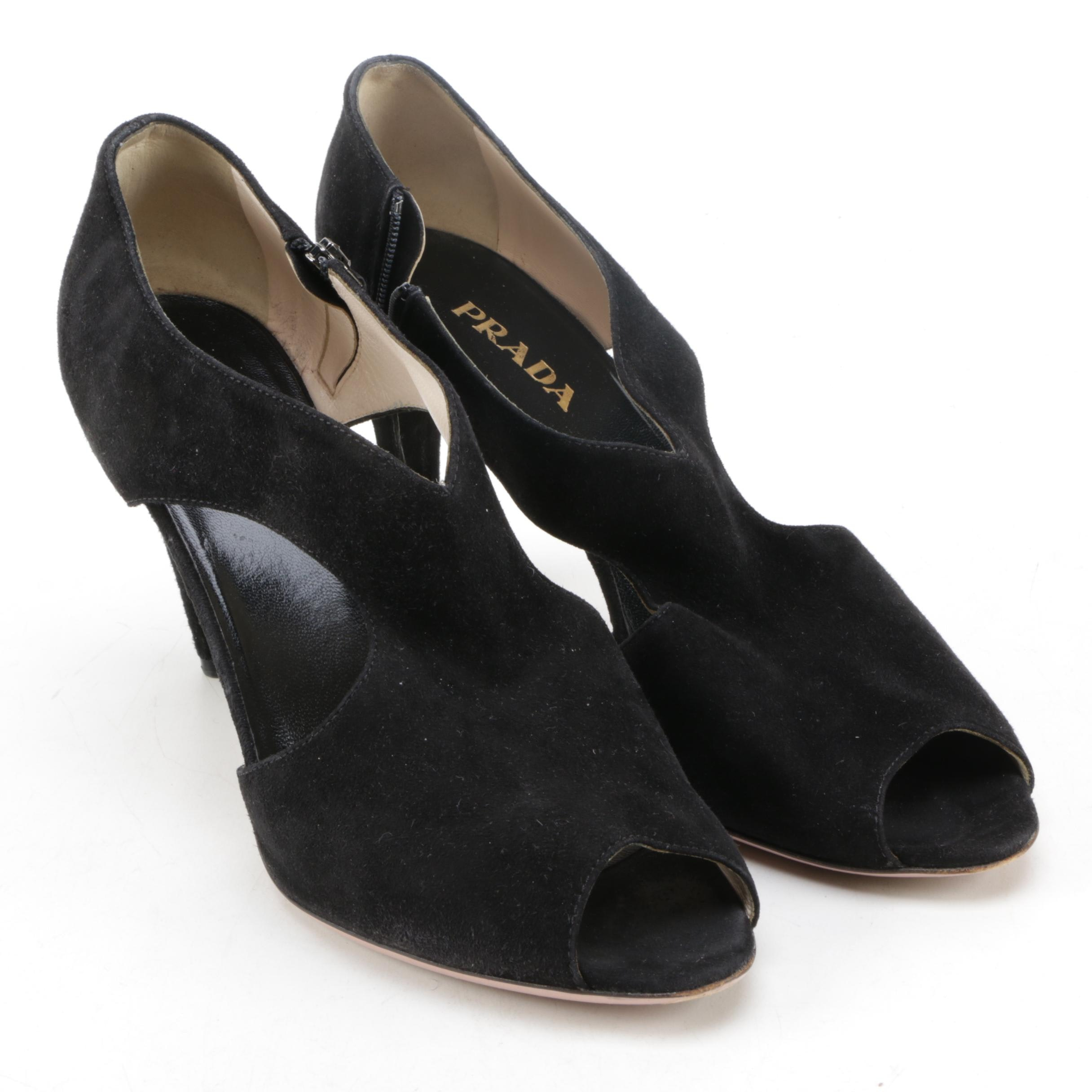 Women's Prada Peep Toe Heels