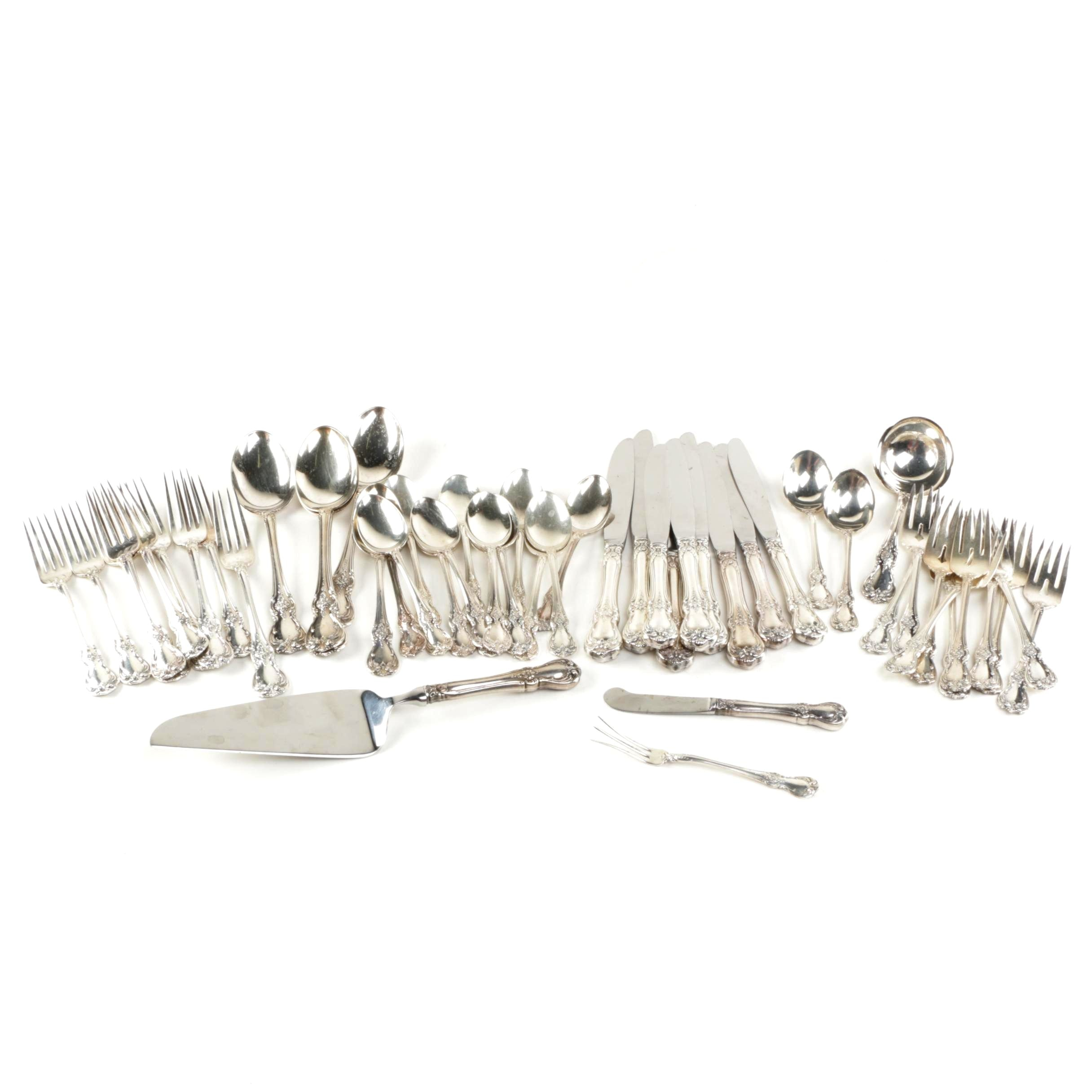 """Towle """"Old Master"""" Sterling Silver Flatware Set"""