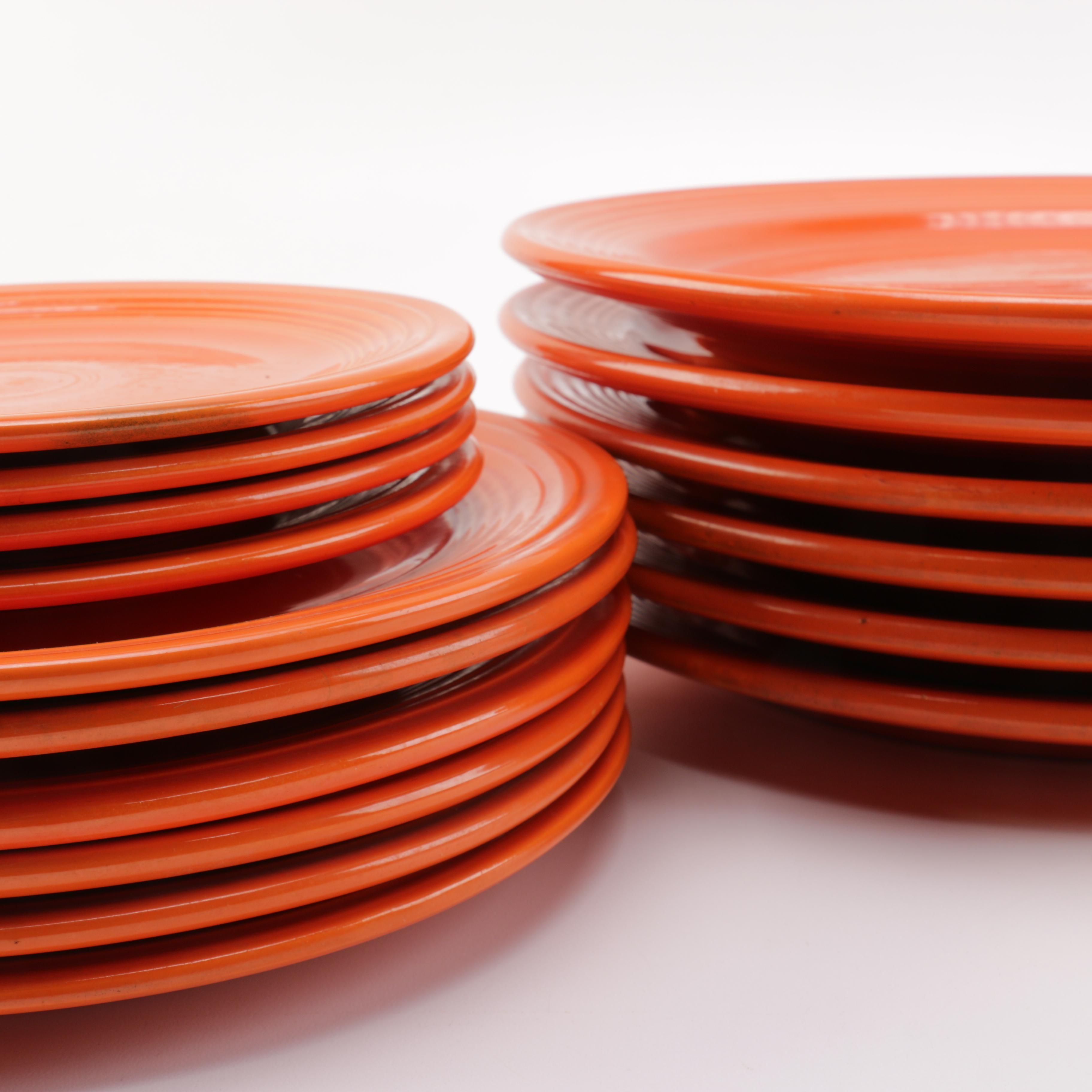 Orange Dinner Plates ... & Orange Dinner Plates : EBTH