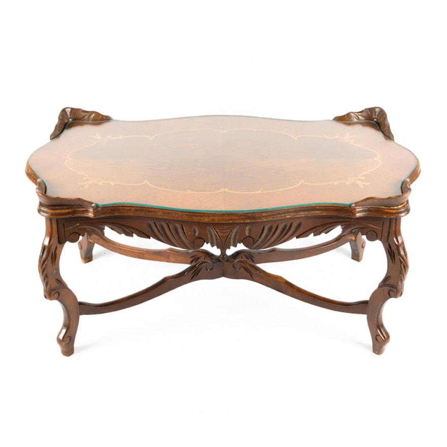 Vintage louis xv style coffee table ebth - Table de chevet louis xv ...