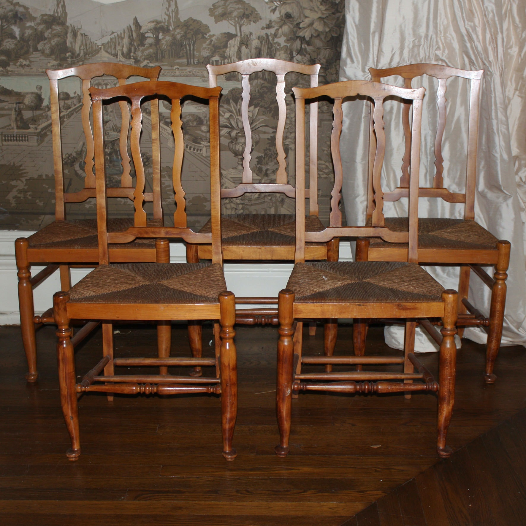 Set of Vintage French Provincial Style Dining Chairs