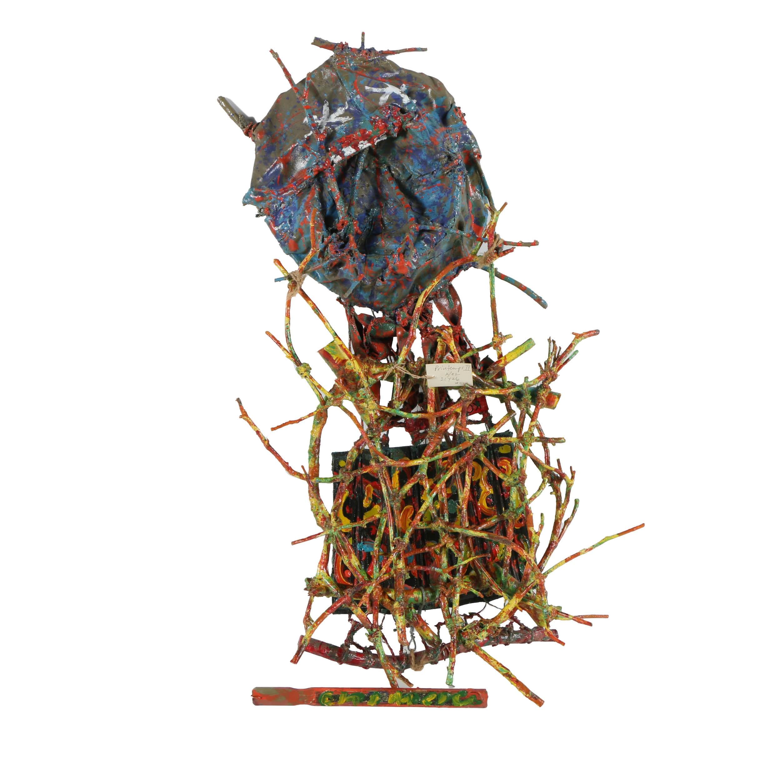 """Frank Kowing Mixed Media Sculpture """"Printemps II"""""""