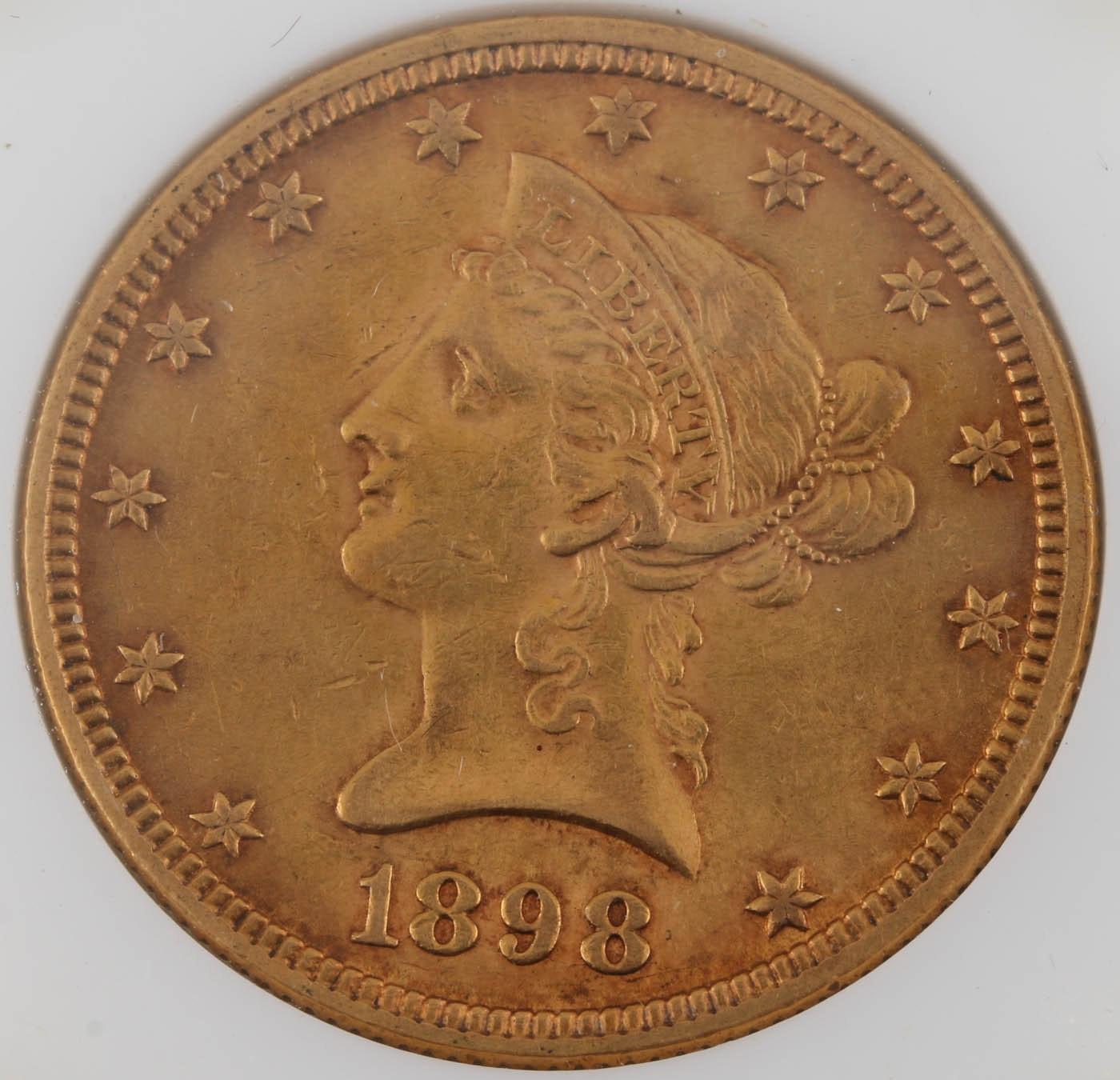 1898 Liberty Head $10 Gold Coin