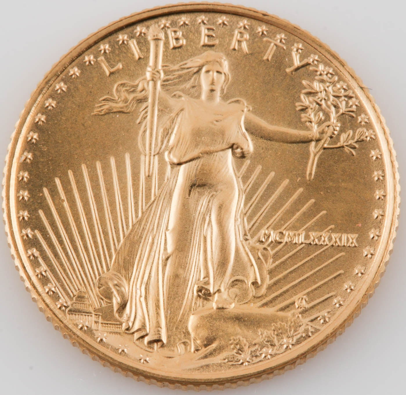 1989 $5 (1/10 ounce) Gold Eagle