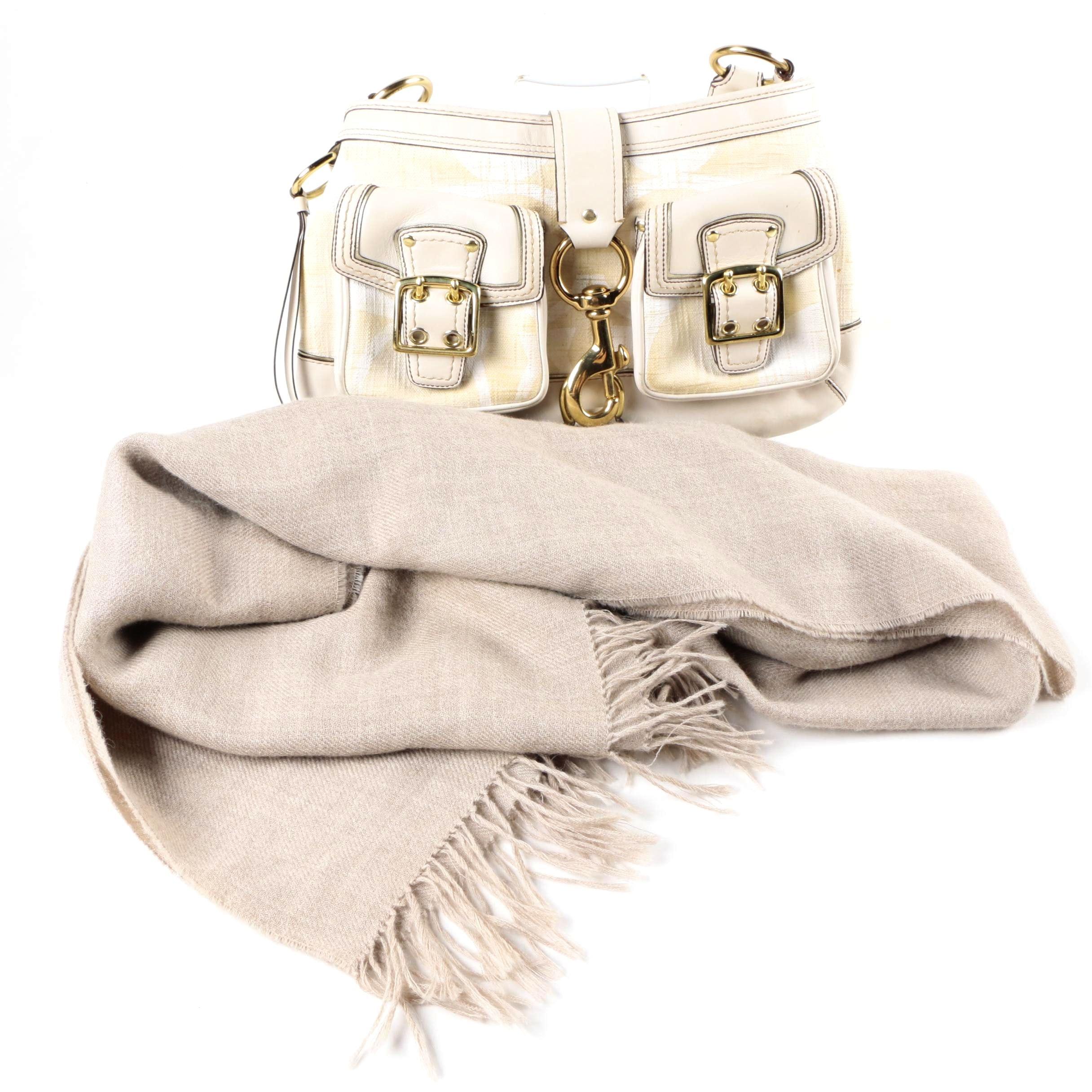 Coach Legacy Hobo Handbag and Alpaca III Scarf