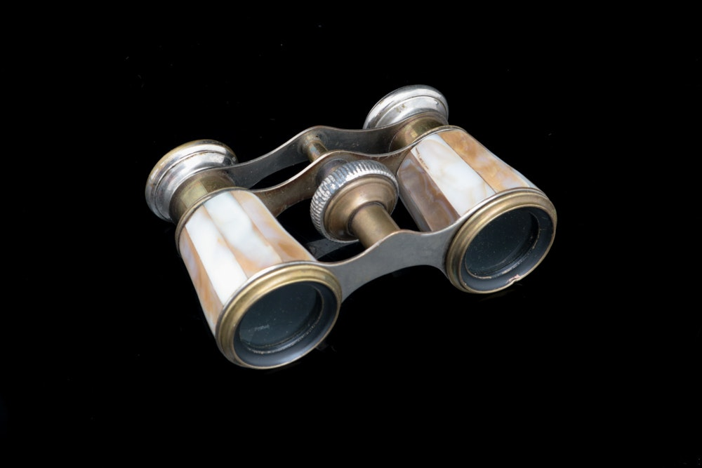 Vintage Chevalier Paris Mother of Pearl Opera Binoculars