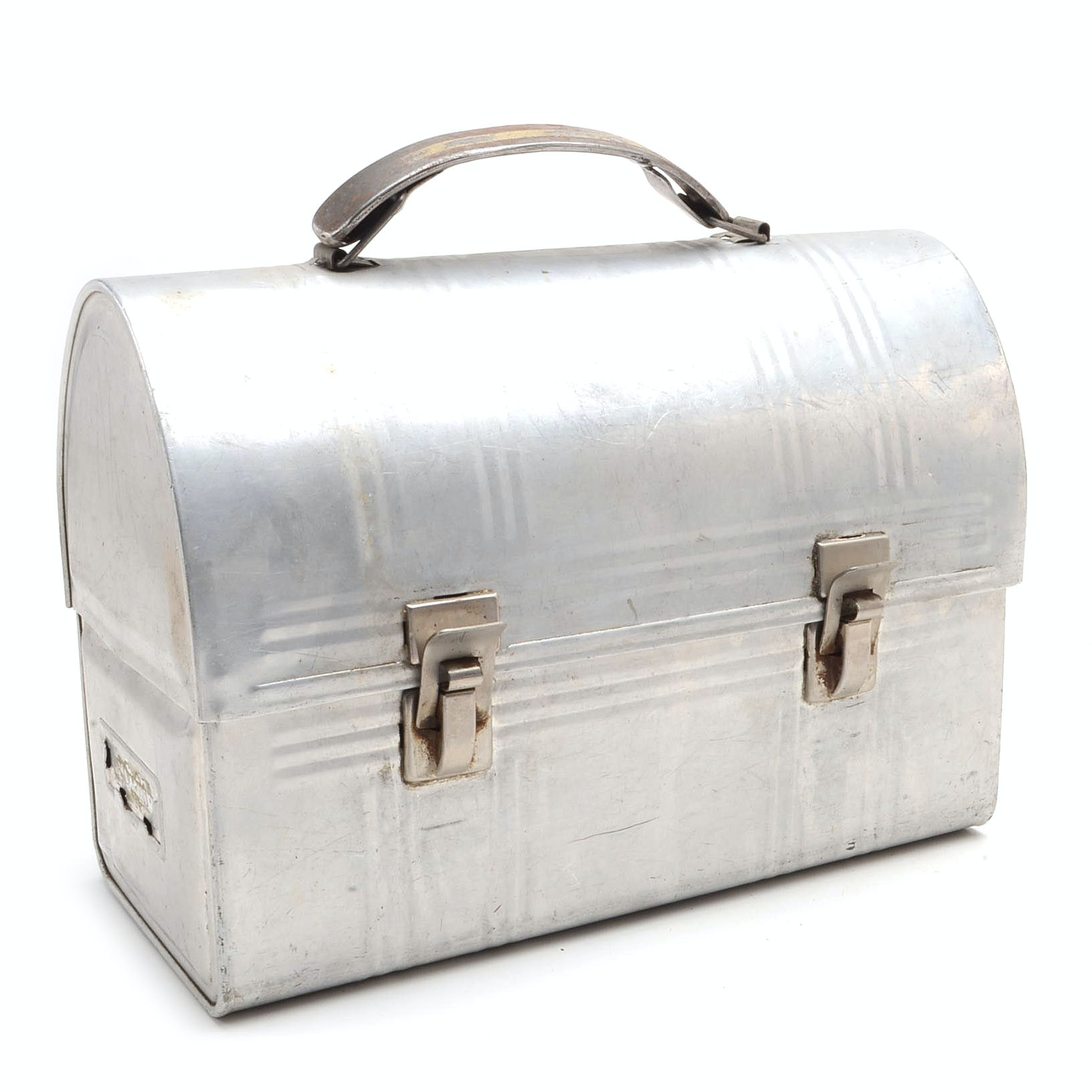 Vintage Aluminum Domed Lid Lunch Box
