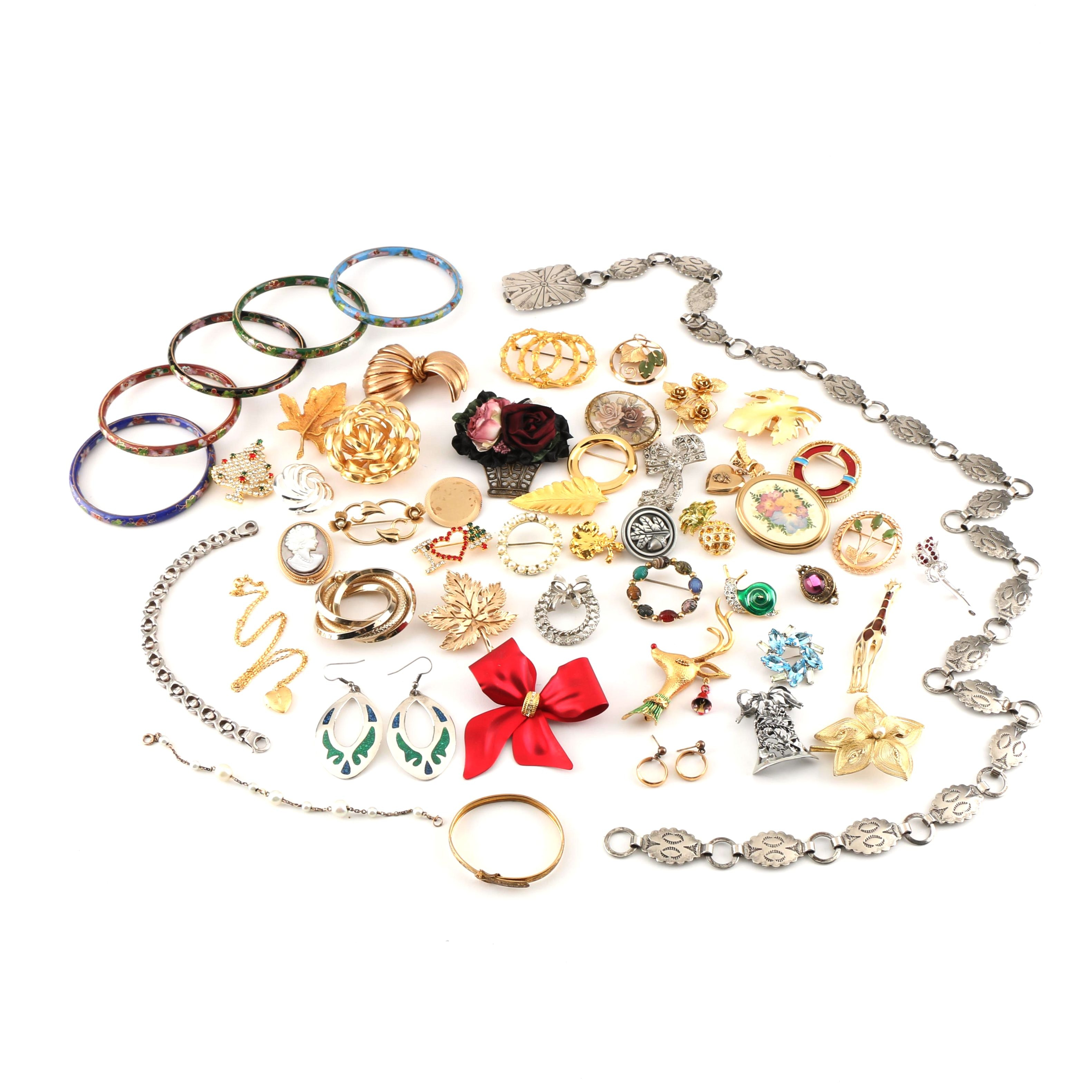 Assortment of Costume Jewelry Including Designer Pieces