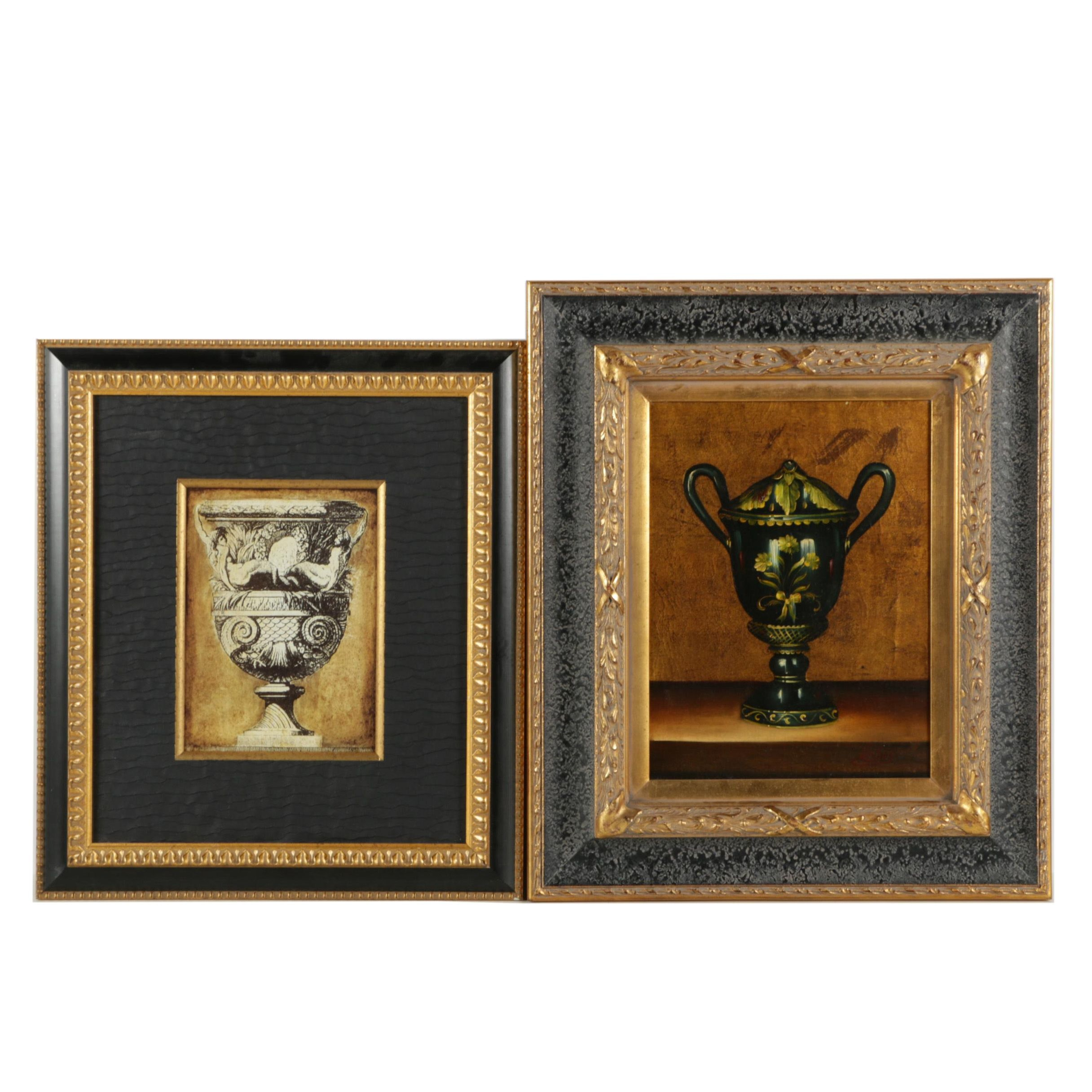 Pair of Urn Themed Wall Decor