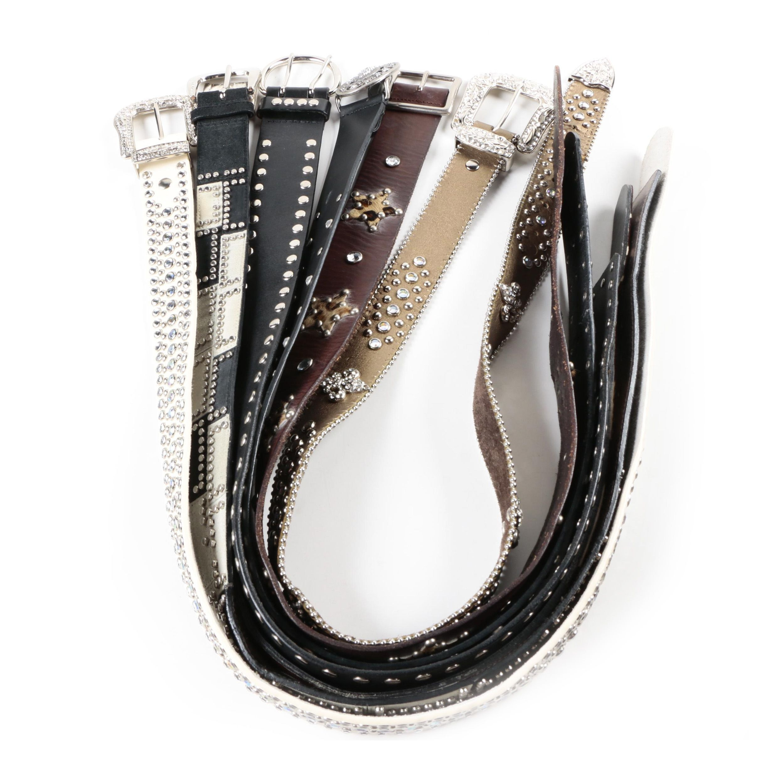 Women's Leather Belts Including Linea Pelle