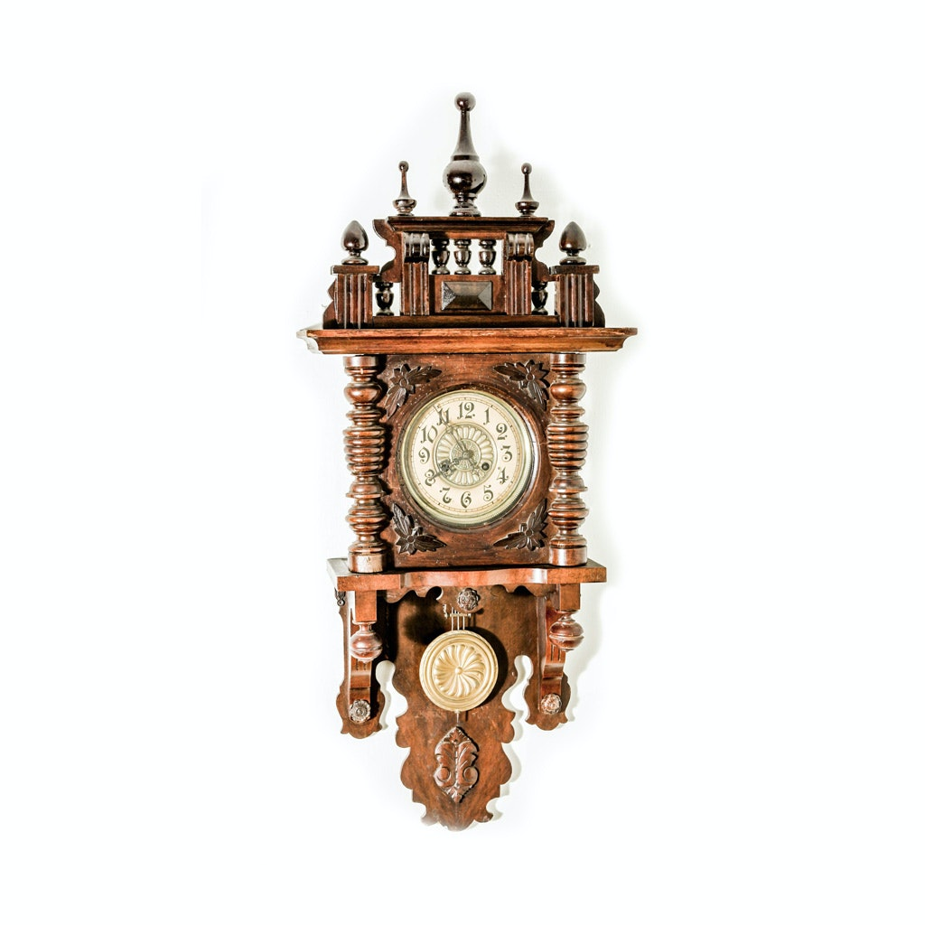 Ornate German Regulator Wall Clock