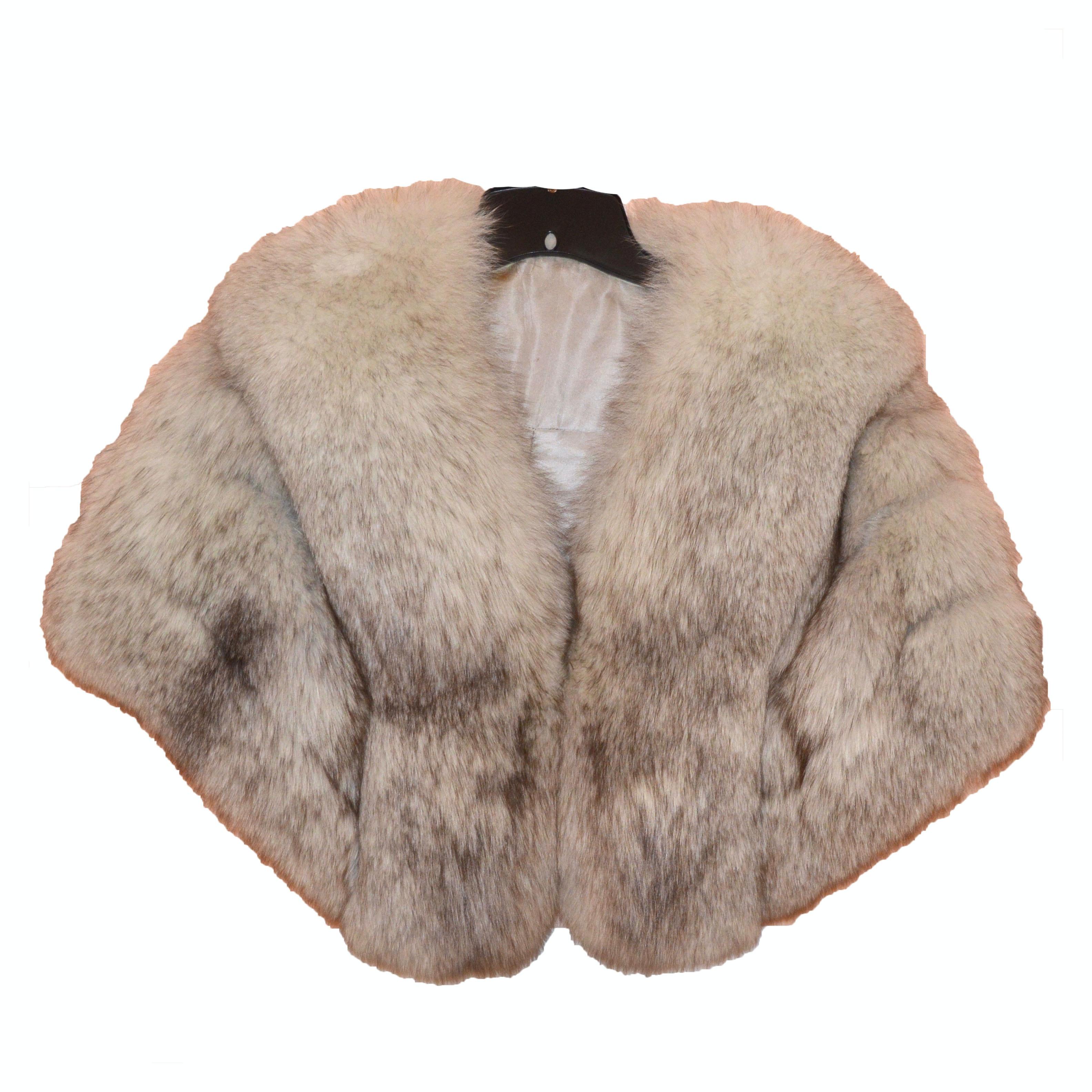 Blue Fox Fur Cape