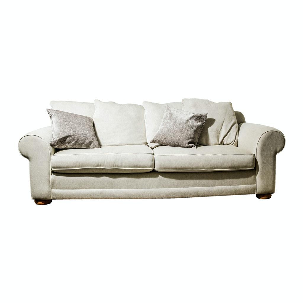 Linen Upholstered Sofa by Bauhaus