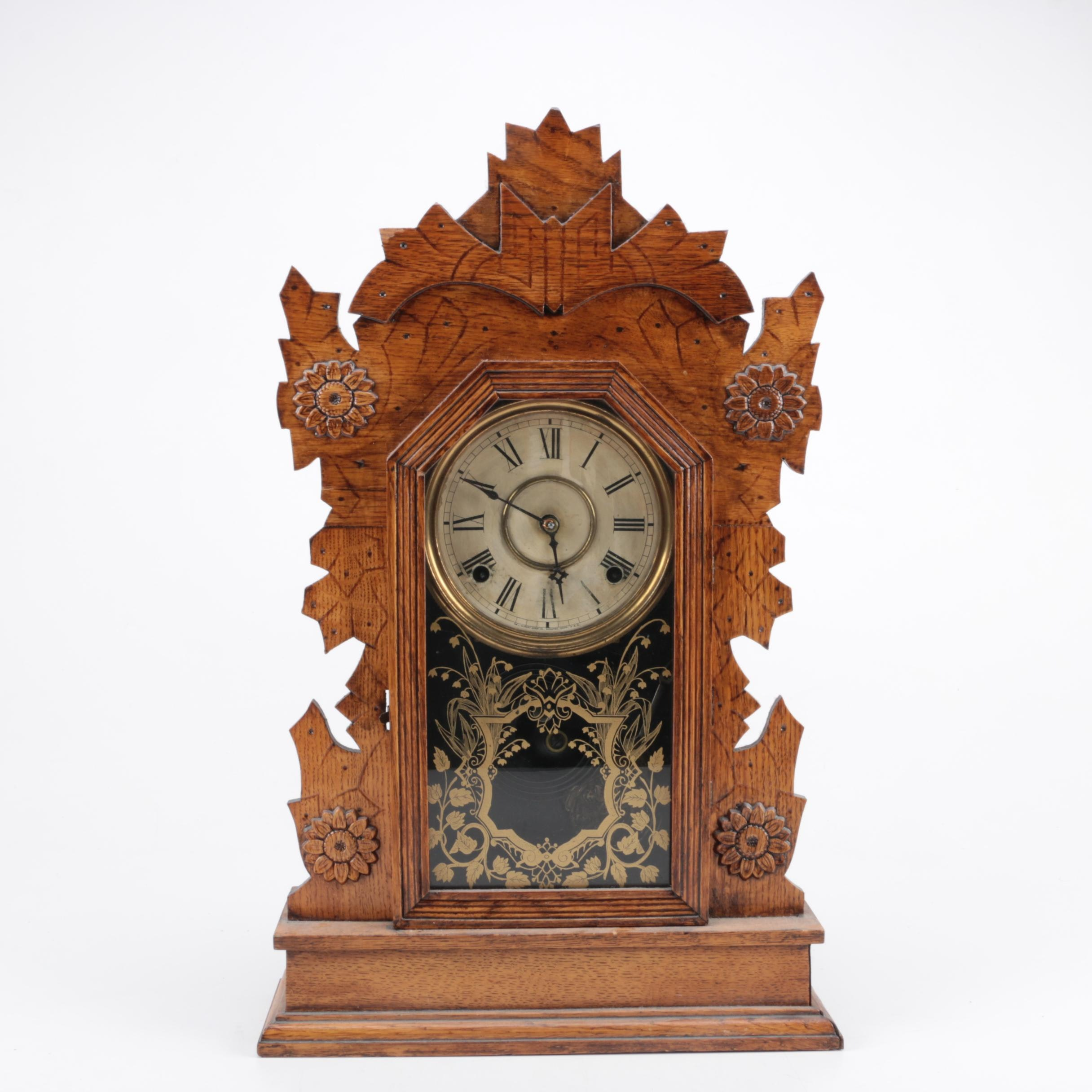 "Gilbert Clock Co. 1896 ""Hawk""  Mantel Clock"