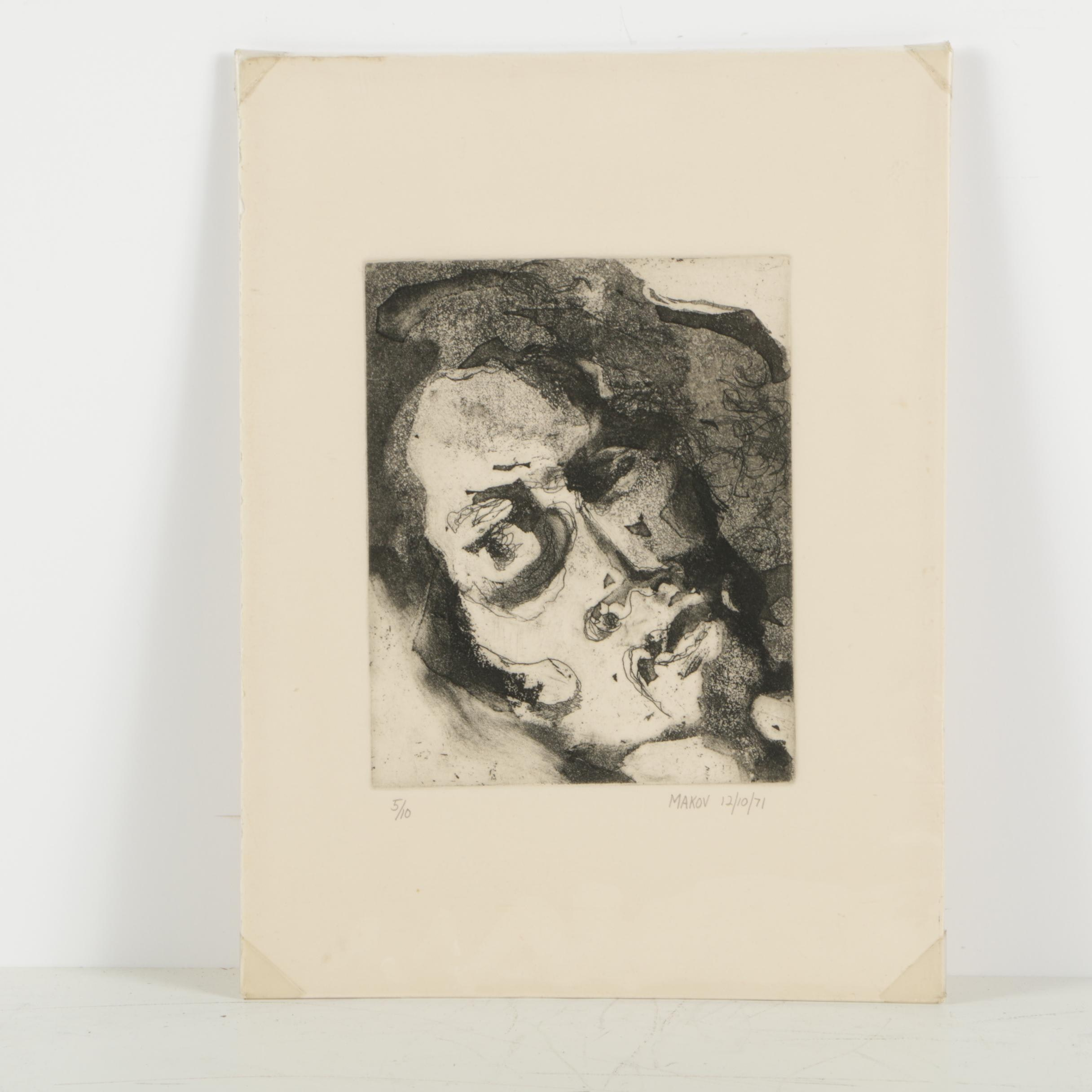 Makov Limited Edition Aquatint Etching on Paper