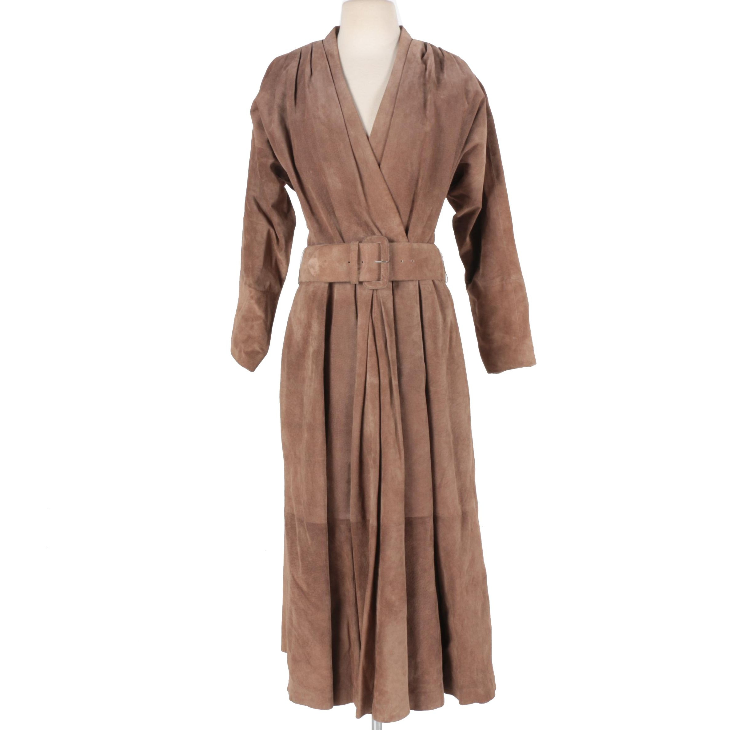 Lloyd Williams Belted Leather Dress