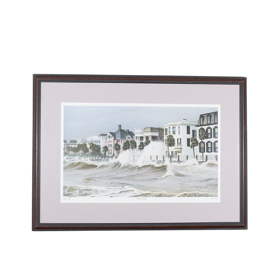 """Classic Edition Offset Lithograph After Jim Booth """"Storm Warnings"""""""