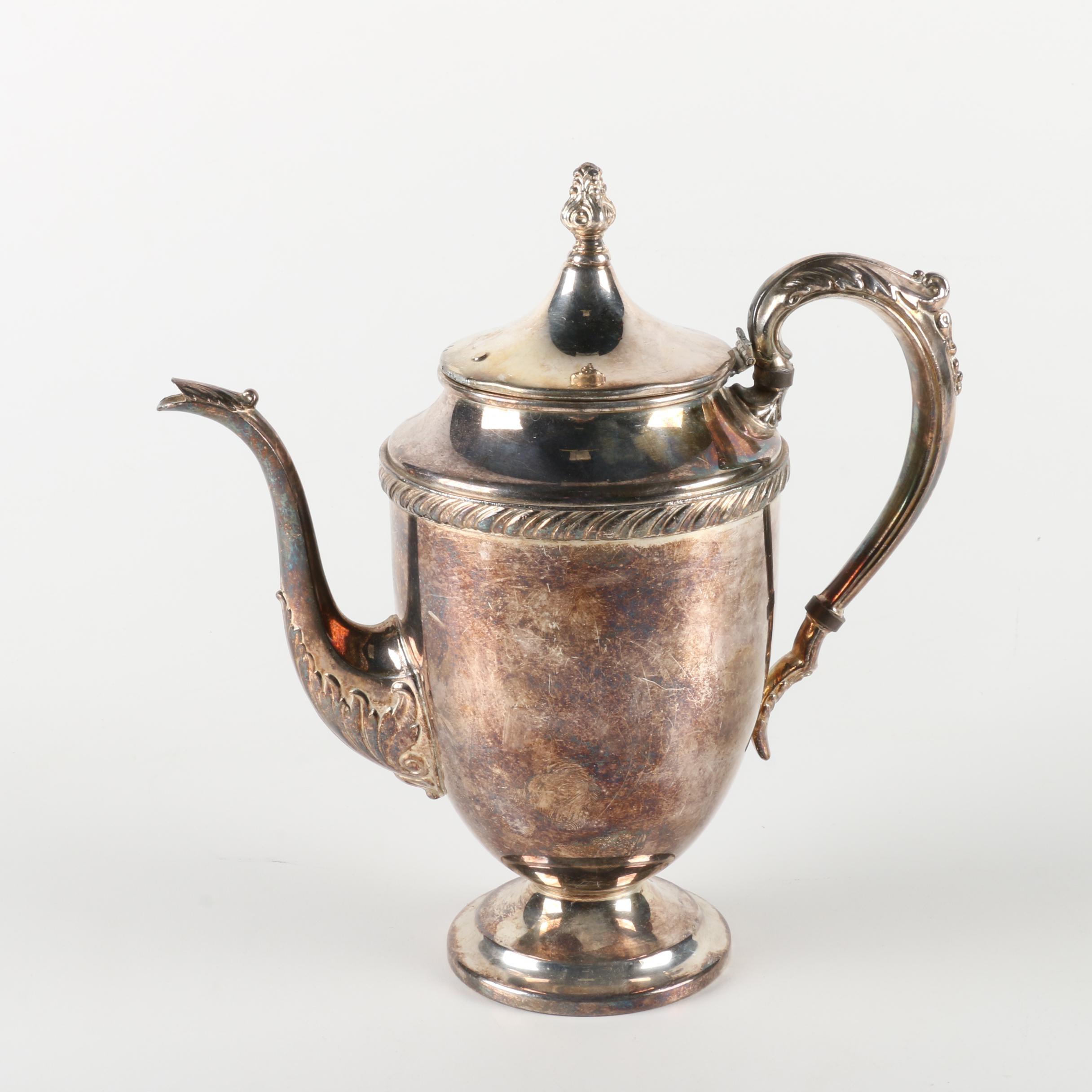 F.B. Rogers Silver on Copper Coffee Pot