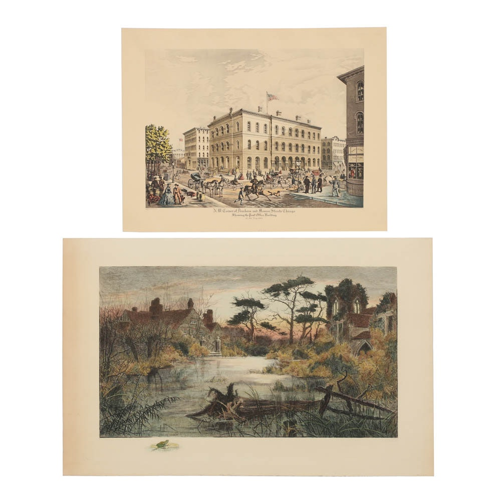 Pair of Color Intaglio Prints on Paper