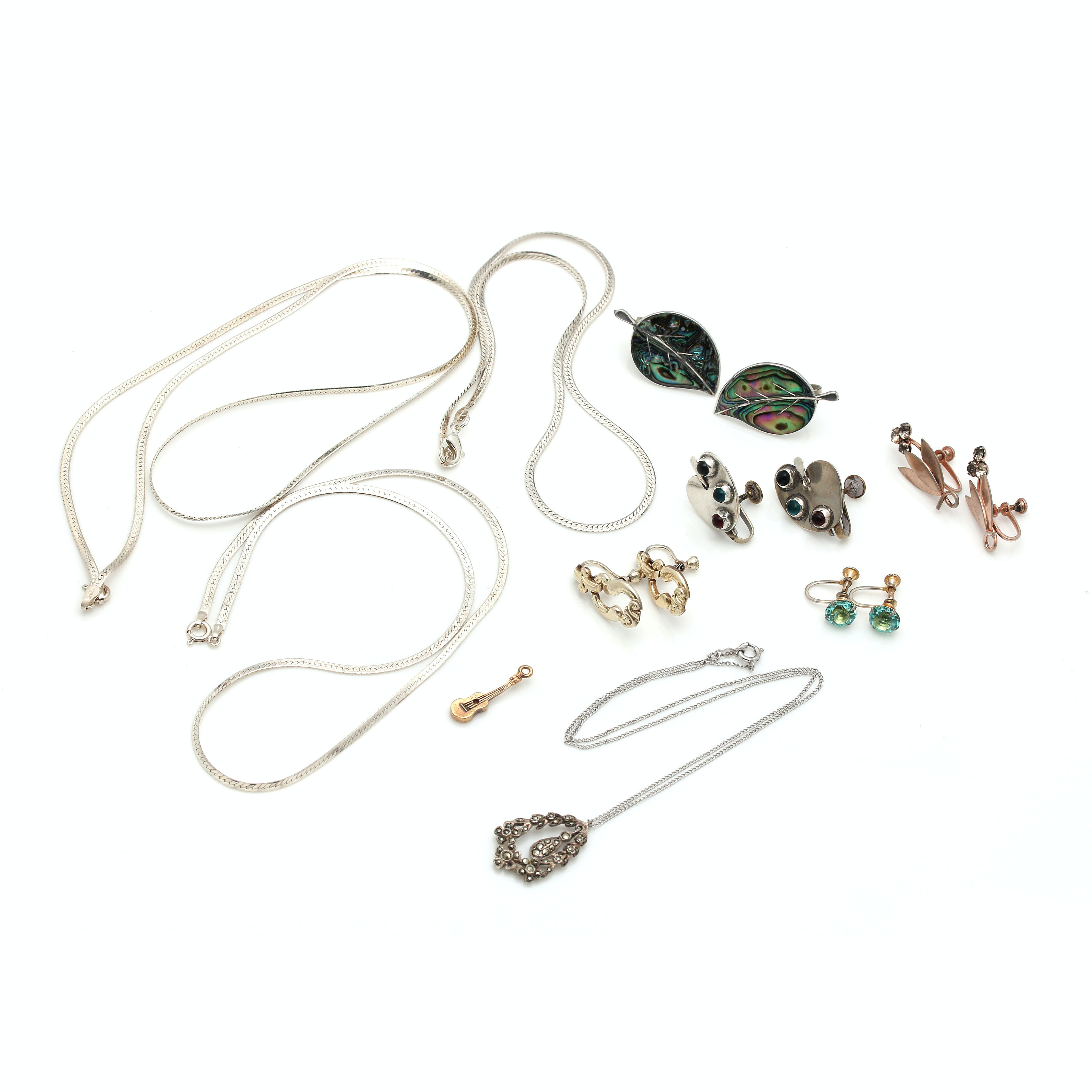 Sterling Silver Gemstone Foliate Jewelry Assortment