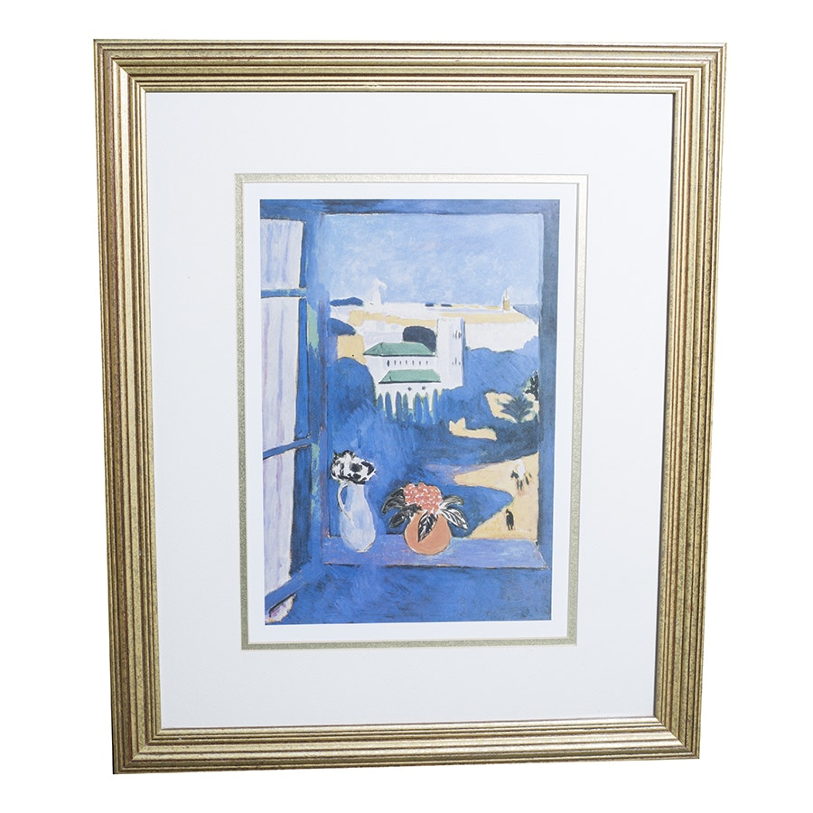 "Offset Lithograph After Henri Matisse's Painting ""Window at Tangier"""
