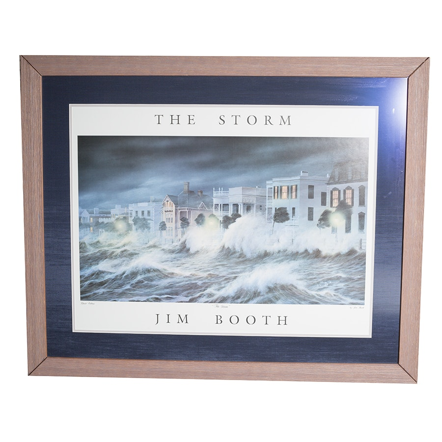 """Classic Edition Offset Lithograph After Jim Booth """"The Storm"""""""