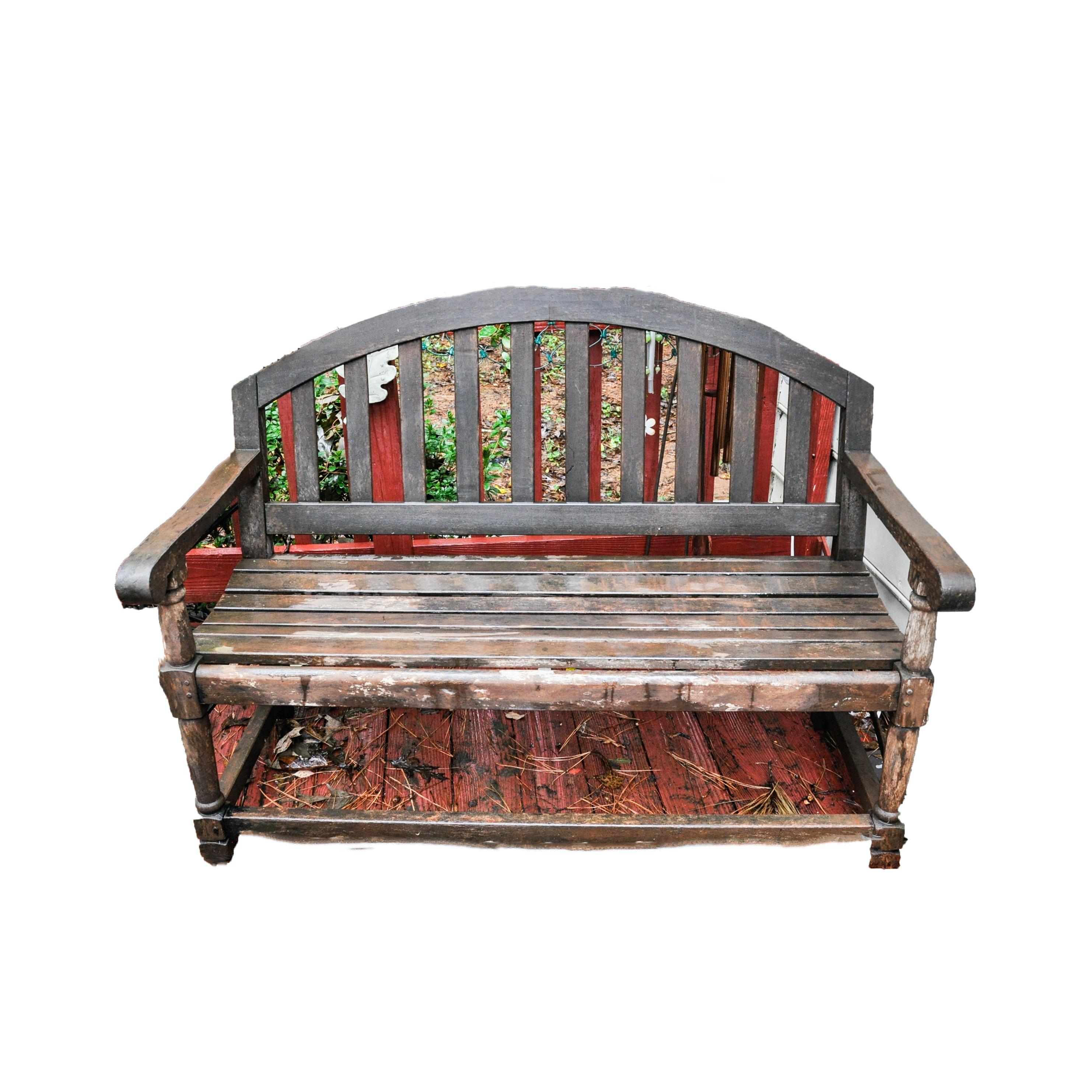 Slat Wood Patio Bench