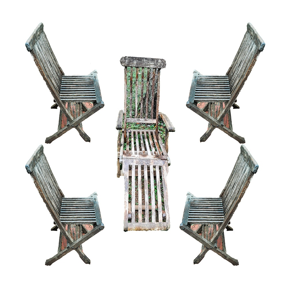 Set of Teak Chairs by Hudson Hill