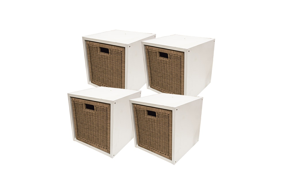 Grandin Road Storage Cubes with Woven Drawers