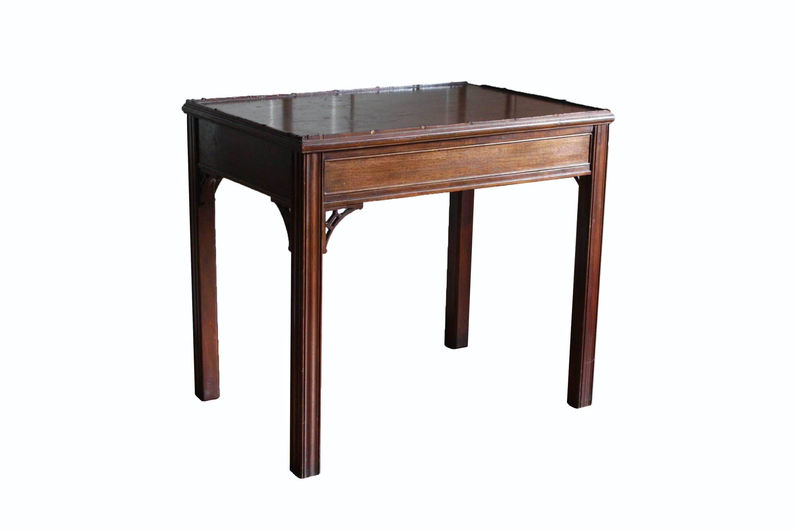 Vintage Mahogany Veneered End Table