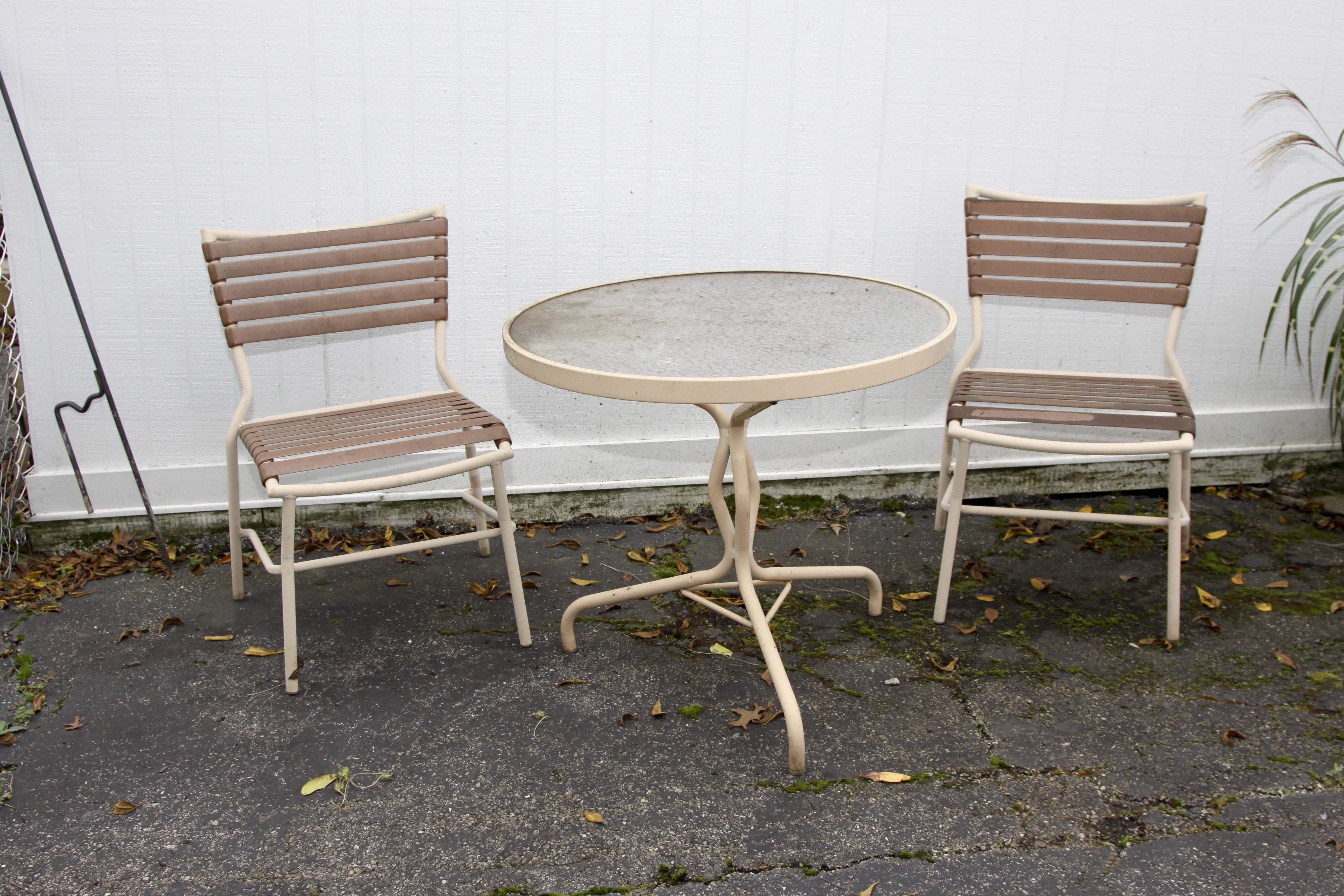 Metal Patio Table and Chair Set