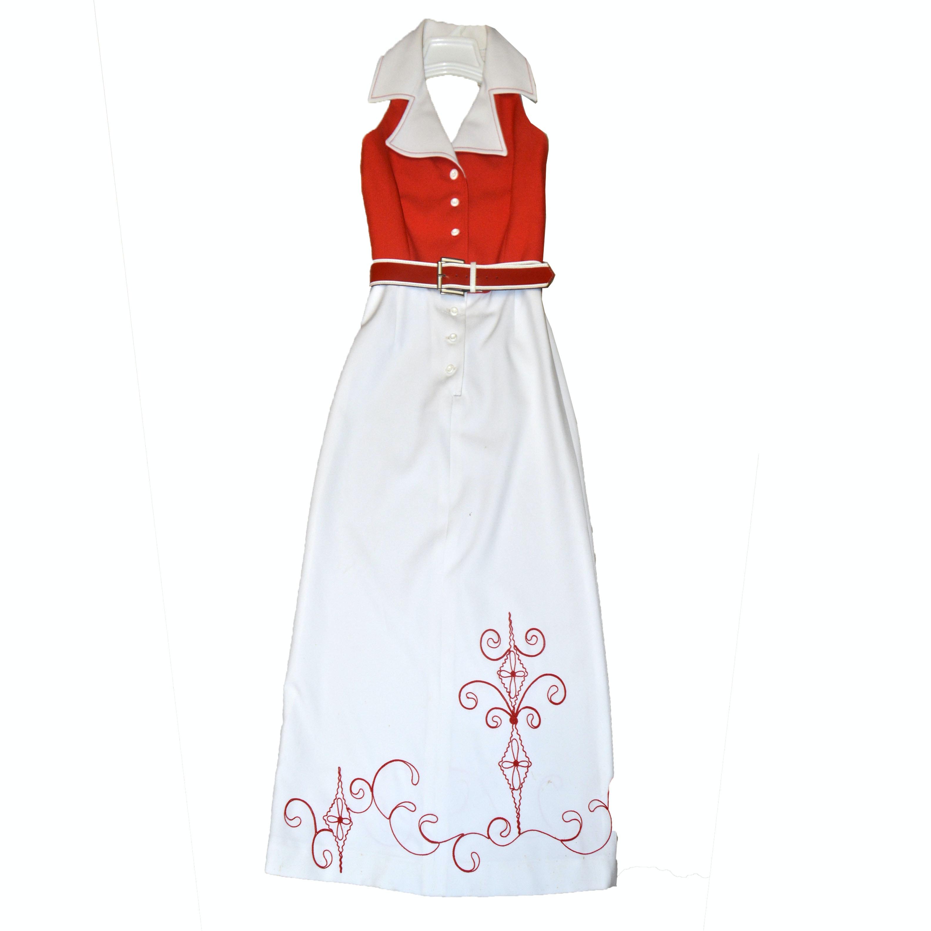 Vintage Halter Dress with ILGWU Clothing Label