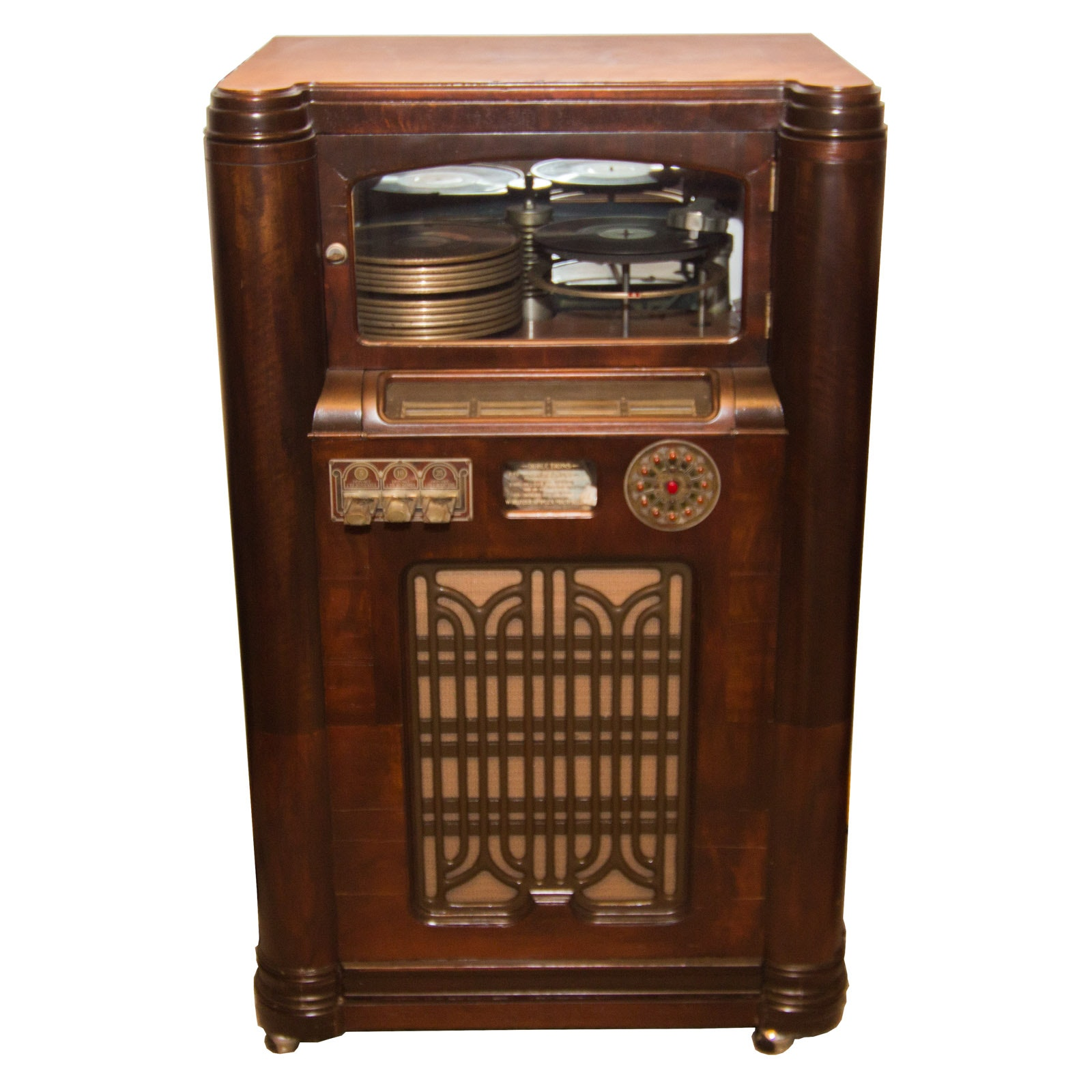 1936 Model 412 Rudolph Wurlitzer Jukebox and Assorted Records