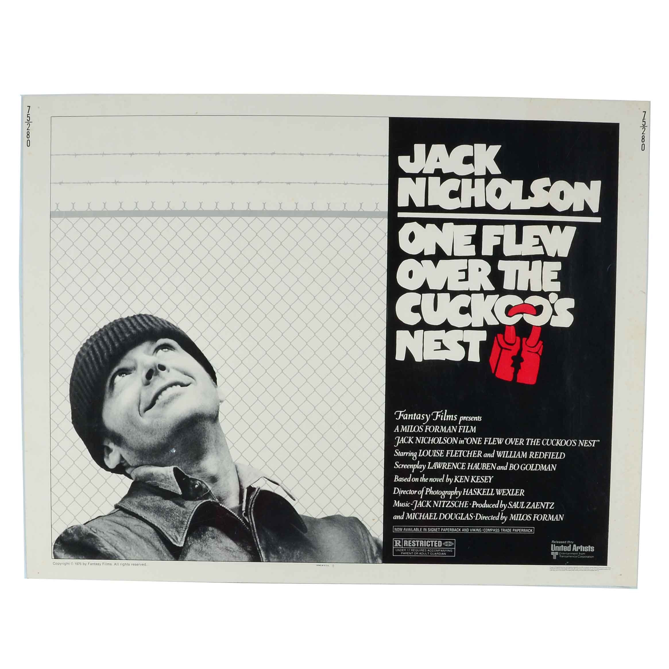 "1975 ""One Flew Over the Cuckoo's Nest"" Movie Poster"