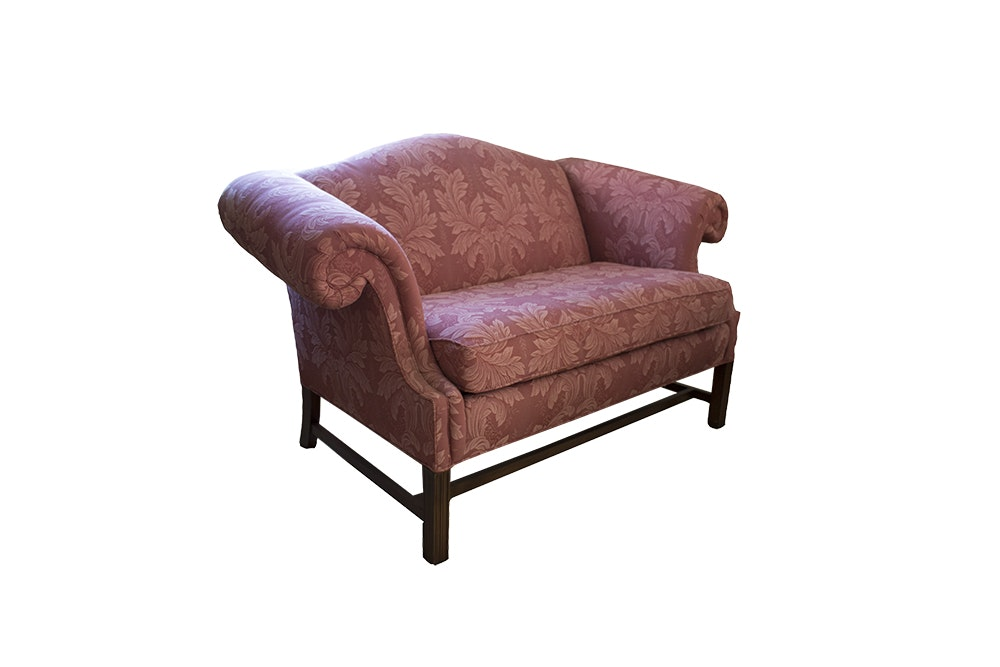 Chippendale Style Upholstered Settee by Sherrill