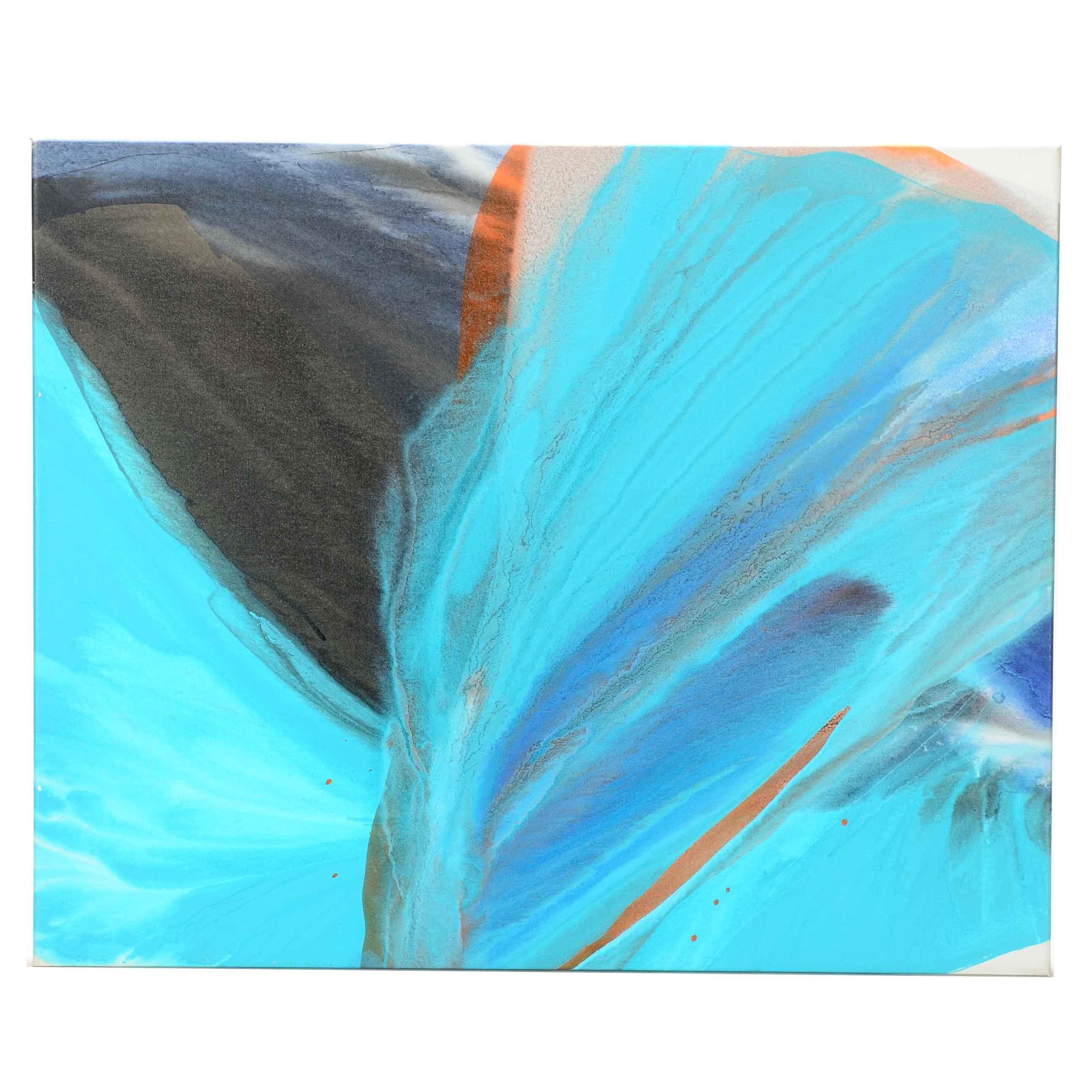 Carol MacConnell Fluid Acrylic Painting on Canvas
