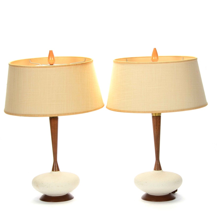 Mid century modern table lamps ebth mid century modern table lamps geotapseo Image collections