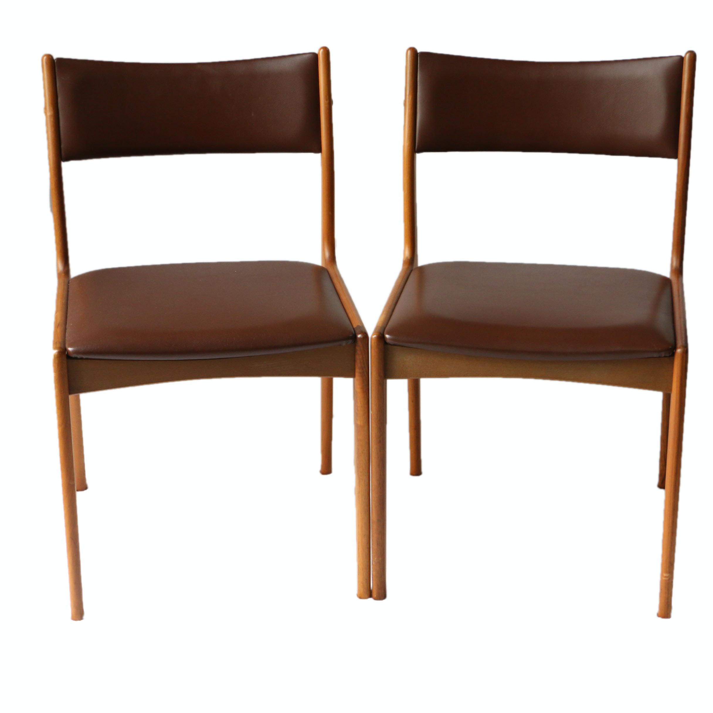 Danish Modern Teak Dining Chairs by Johannes Andersen for Uldum Møbelfabrik