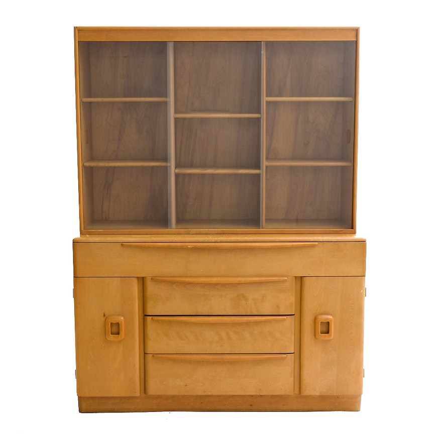 Mid Century Modern Heywood Wakefield Buffet And Hutch