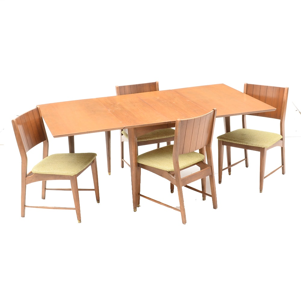 Vintage Gate-Leg Dining Table and Chairs